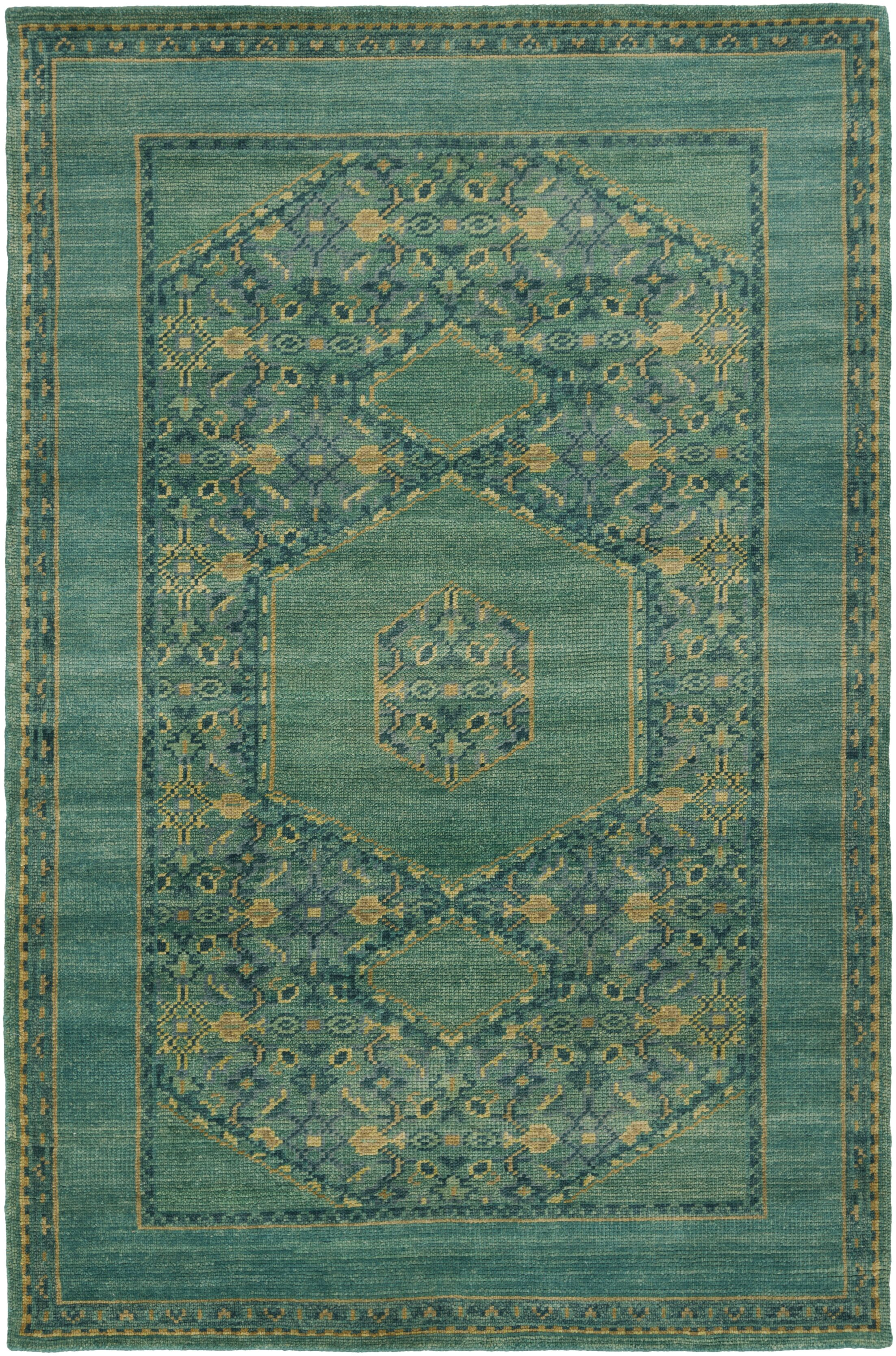 Ryles Teal Area Rug Rug Size: Rectangle 9' x 13'