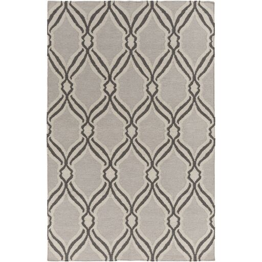 Light Gray Area Rug Rug Size: Rectangle 8' x 10'