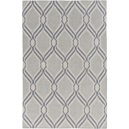 Handmade Gray Area Rug Rug Size: Rectangle 4' x 6'