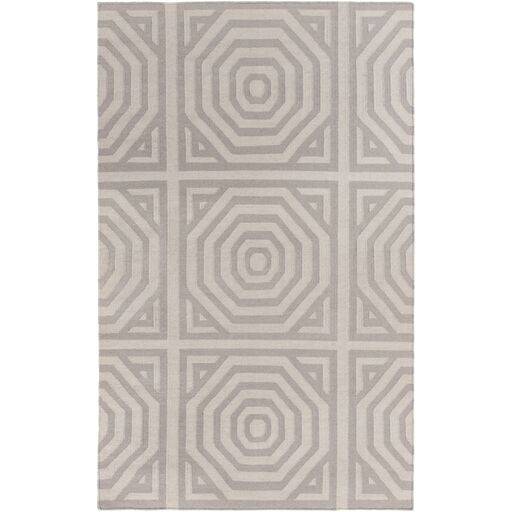 Hand Woven Cotton Gray Area Rug Rug Size: Rectangle 5' x 7'6