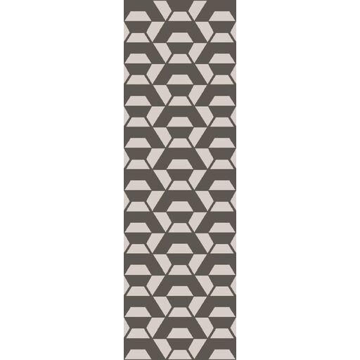 Ink Hand-Tufted Wool Light Gray/Ivory Rug Rug Size: Runner 2'6