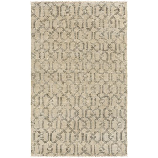 Sutton Hand-Tufted Wool Charcoal/Light Gray Area Rug Rug Size: Rectangle 4' x 6'