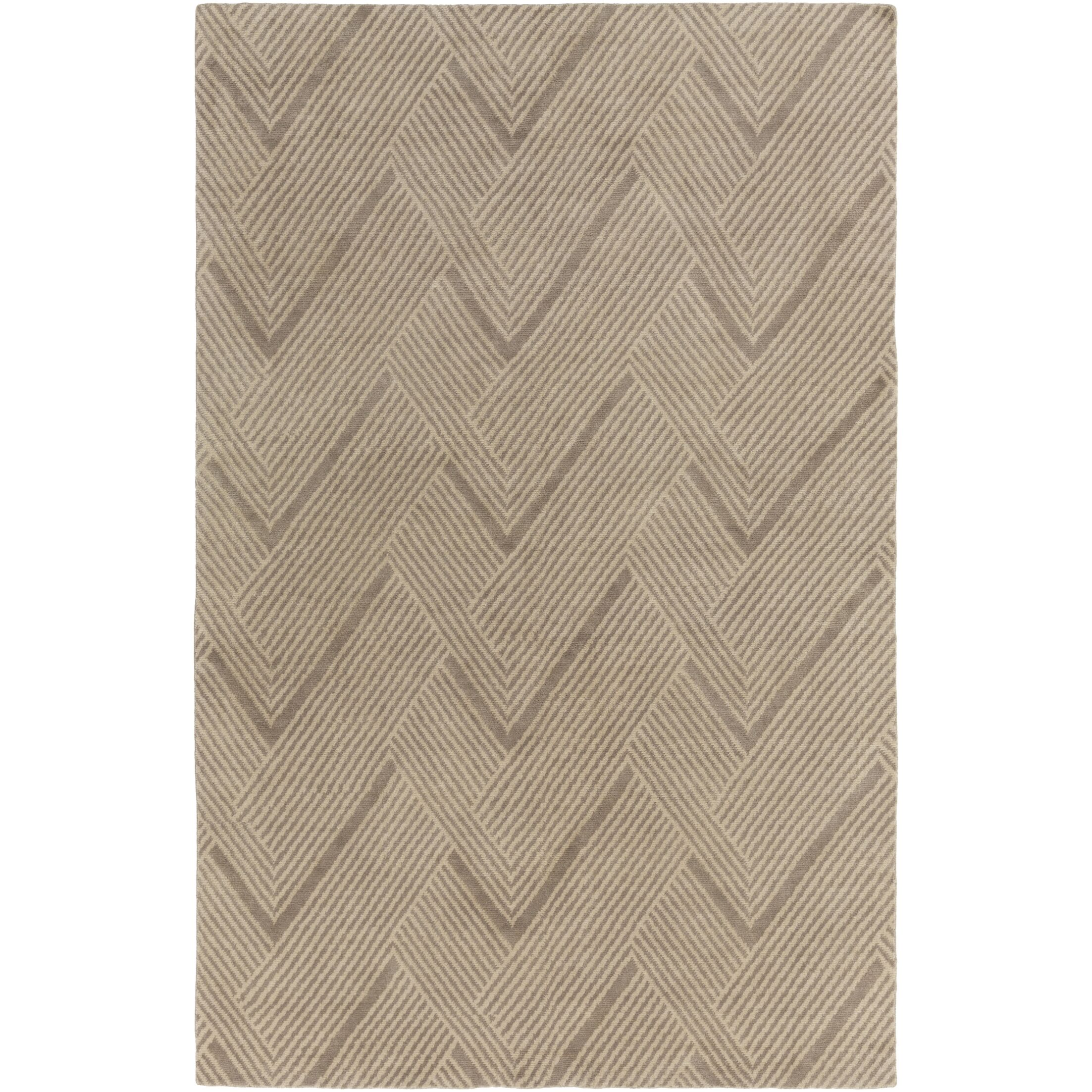 Clive Hand-Tufted Wool Light Brown Area Rug Rug Size: Rectangle 4' x 6'