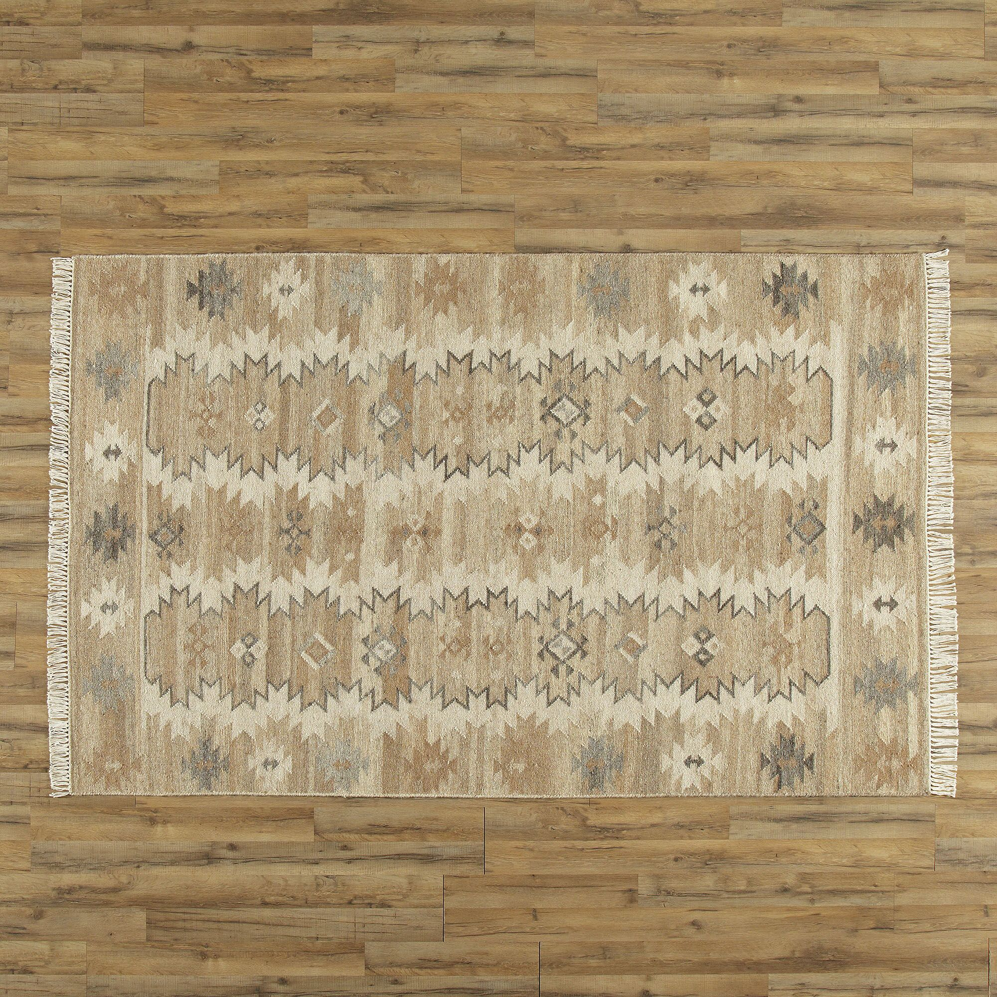 Monterrey Hand-Woven Wool Area Rug Rug Size: Rectangle 3'6