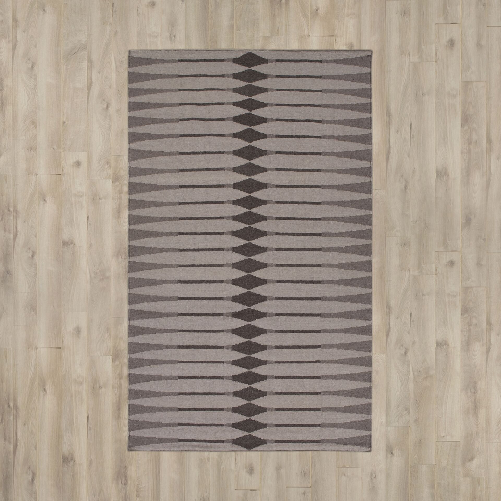 Hand Woven Cotton Brown/Gray Area Rug Rug Size: Rectangle 5' x 7'6