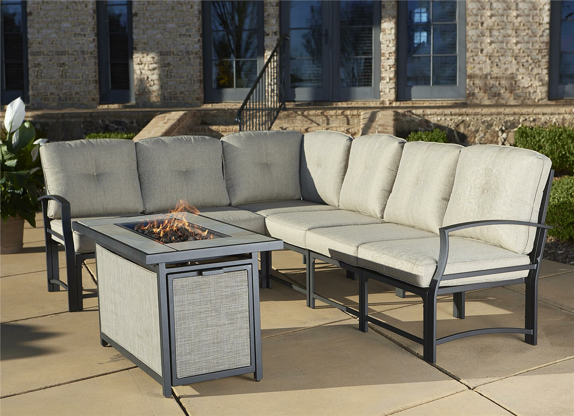 Pavilion Aluminum Sectional with Cushions