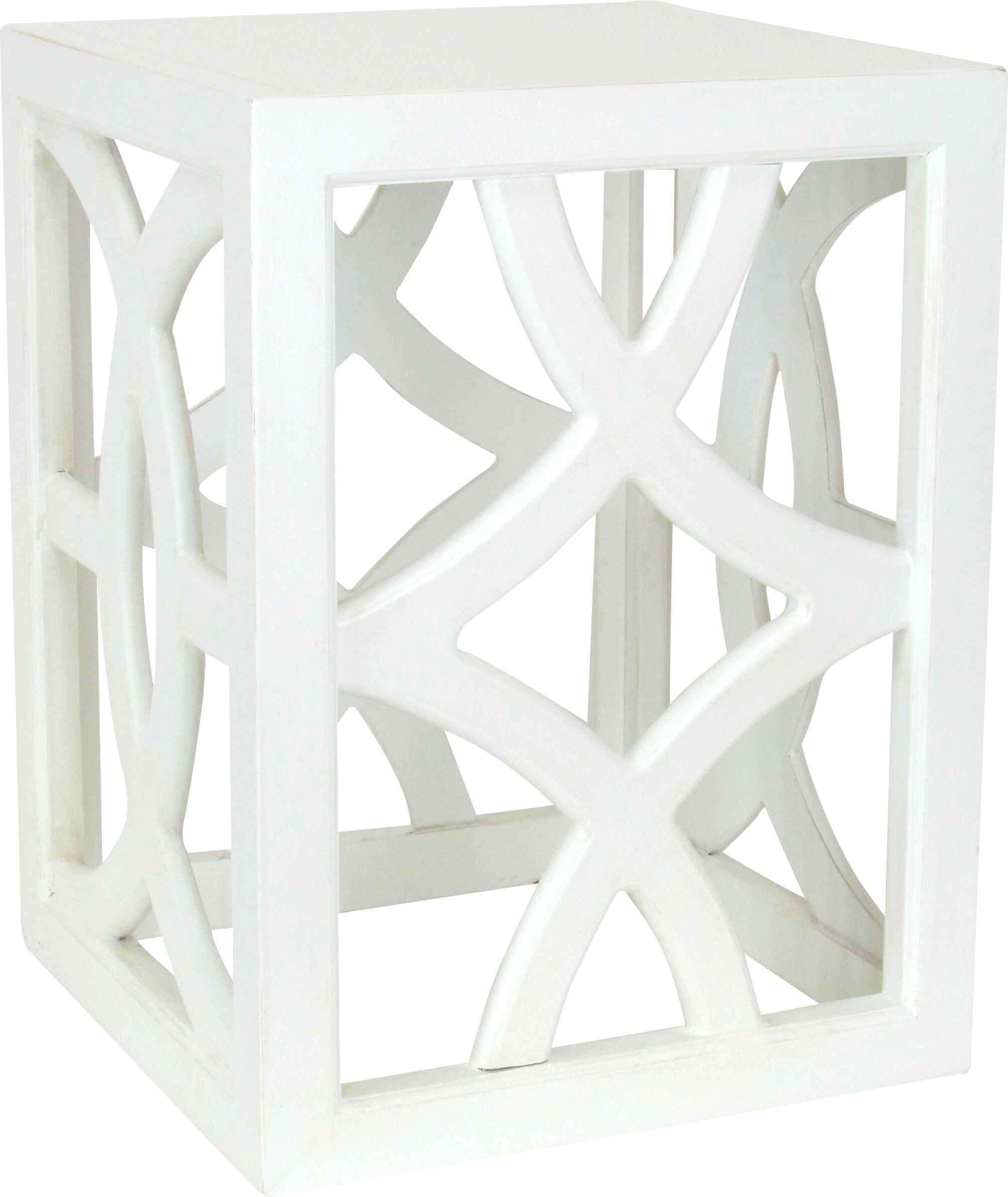 Charleston End Table Color: Whitewash