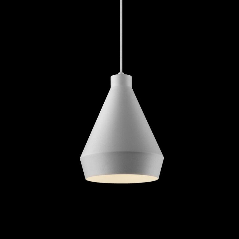 Koma 1 Light Cone Pendant Finish: Bright Satin Aluminum