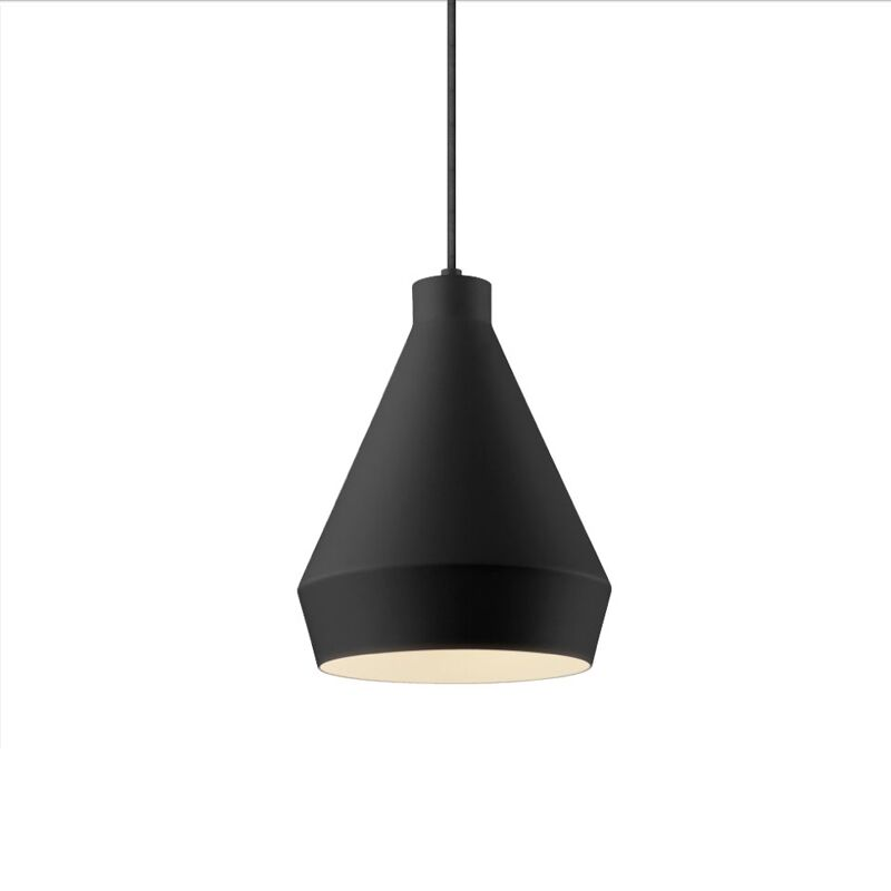 Koma 1 Light Cone Pendant Finish: Satin Black