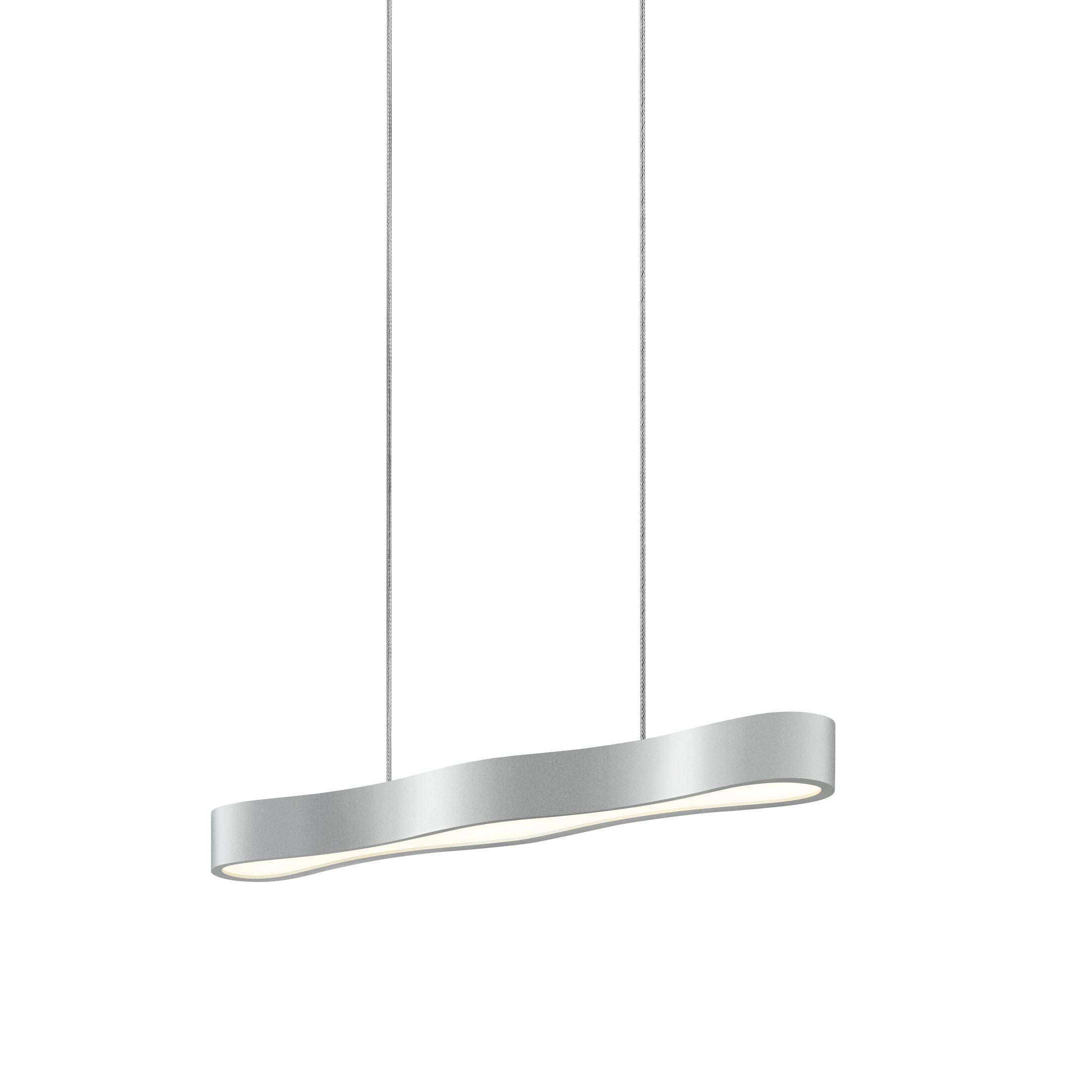 Corso Linear 1-Light Kitchen Island Pendant Finish: Bright Satin Aluminum, Size: 2.25