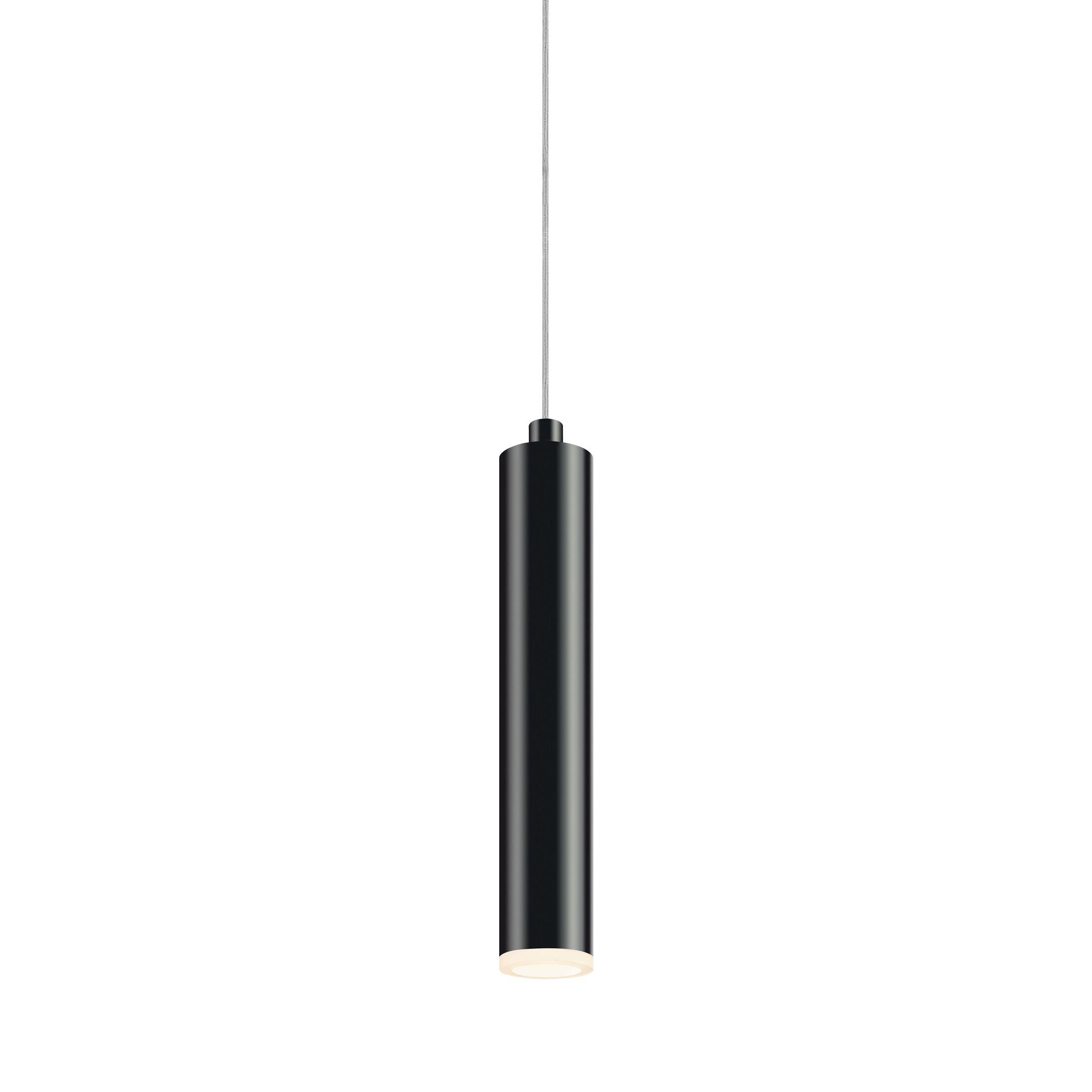 Micro Cone 1-Light Cylinder Pendant Finish: Satin Black