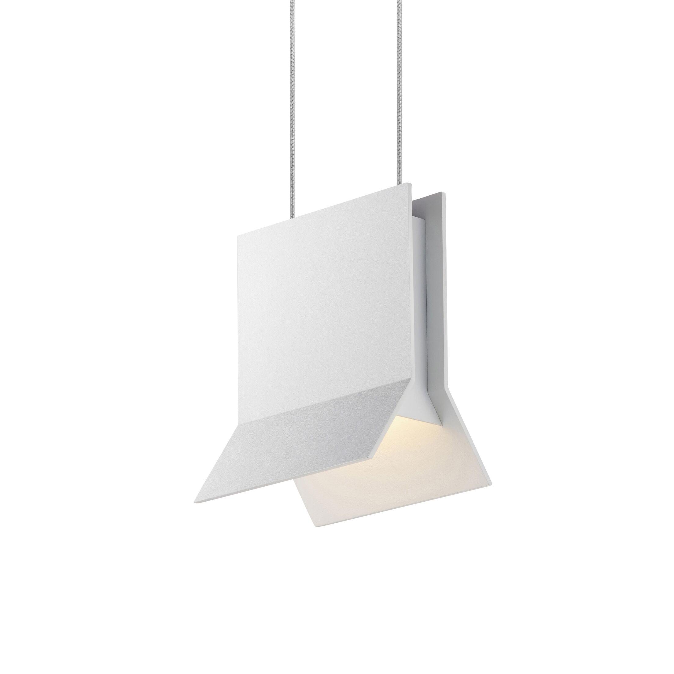 Lambda 1-Light Novelty Pendant Finish: Textured White