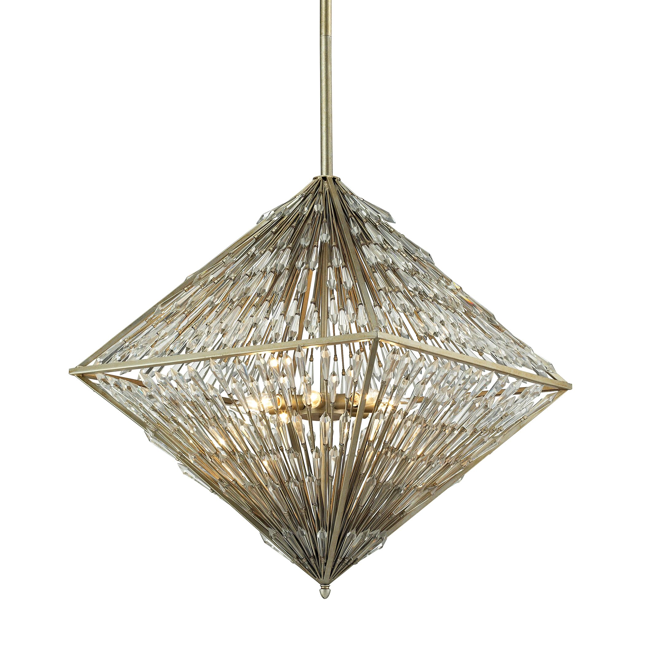 Gillian 8-Light Geometric Chandelier