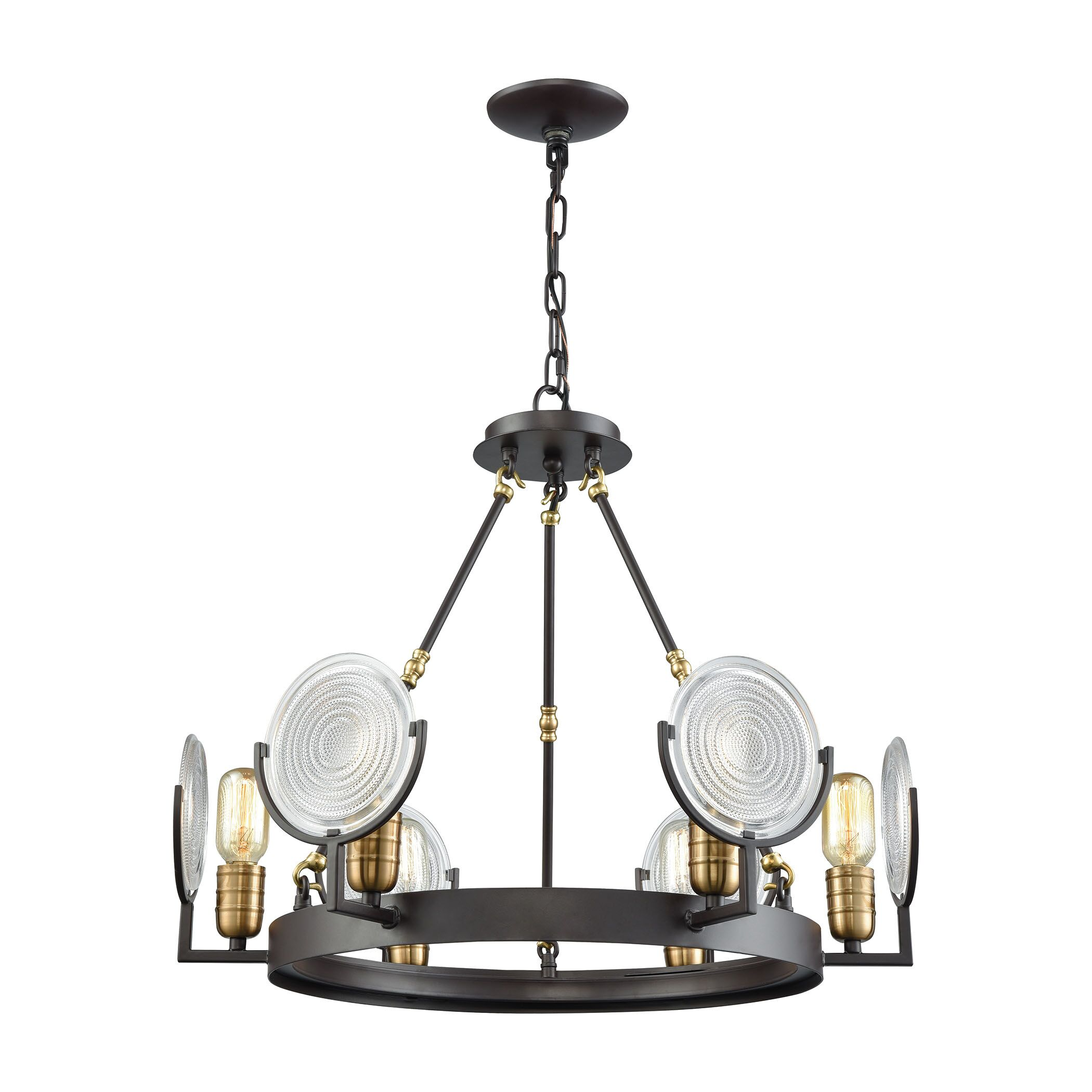 Drolet 6-Light Shaded Chandelier