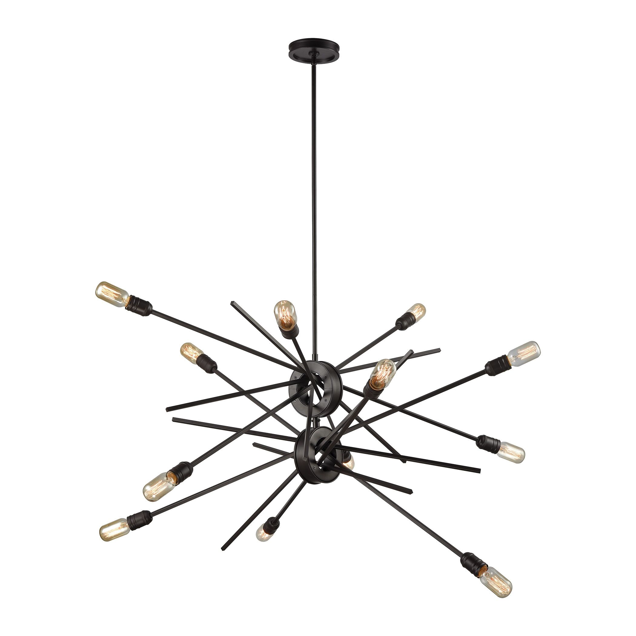 Graddy 12-Light Sputnik Chandelier Finish: Oil Rubbed Bronze