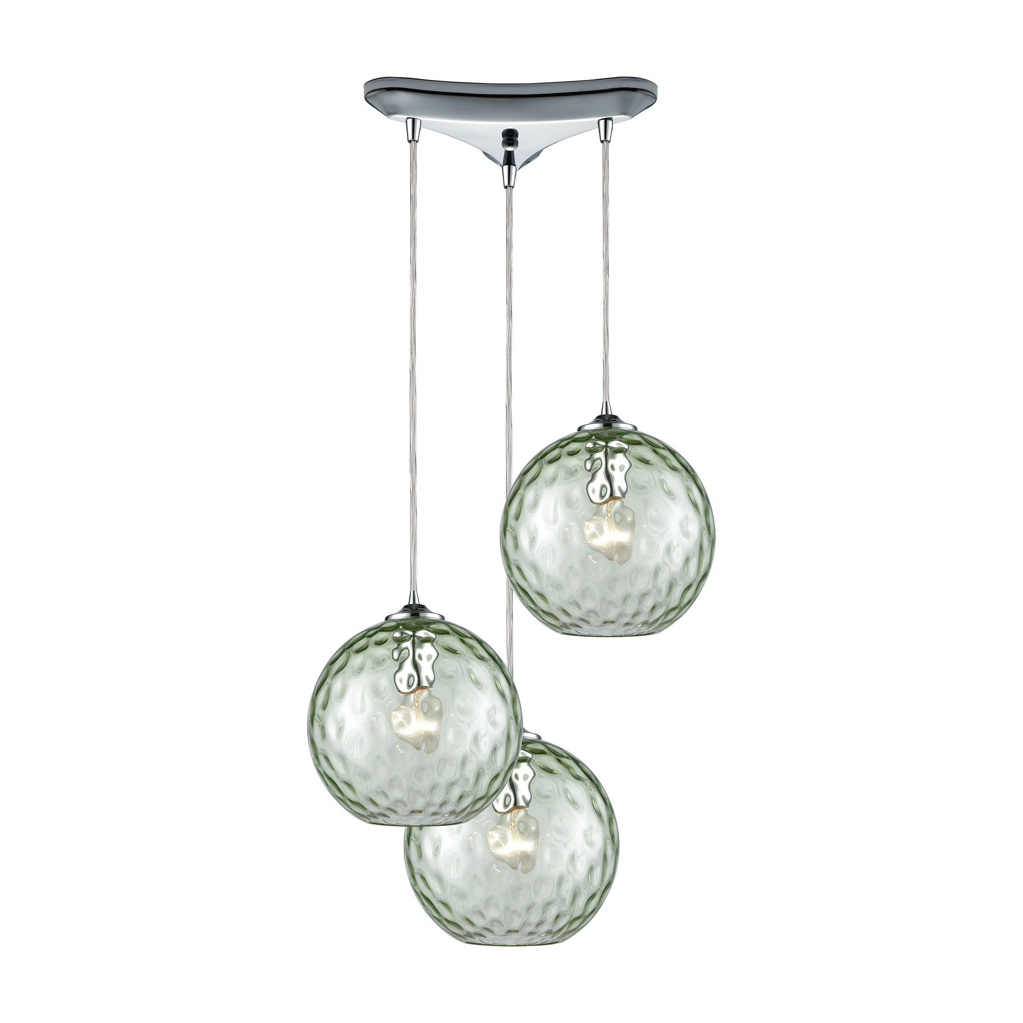 Rotterdam 3-Light Pendant Shade Color: Light Green