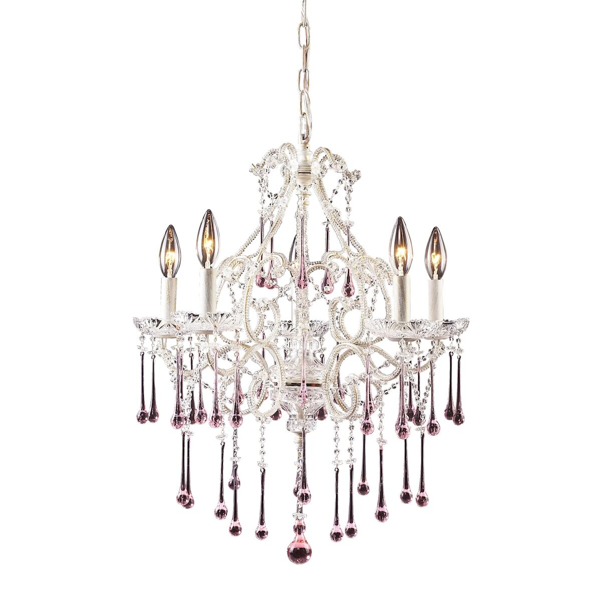 Driffield 5-Light Glass Candle Style Chandelier