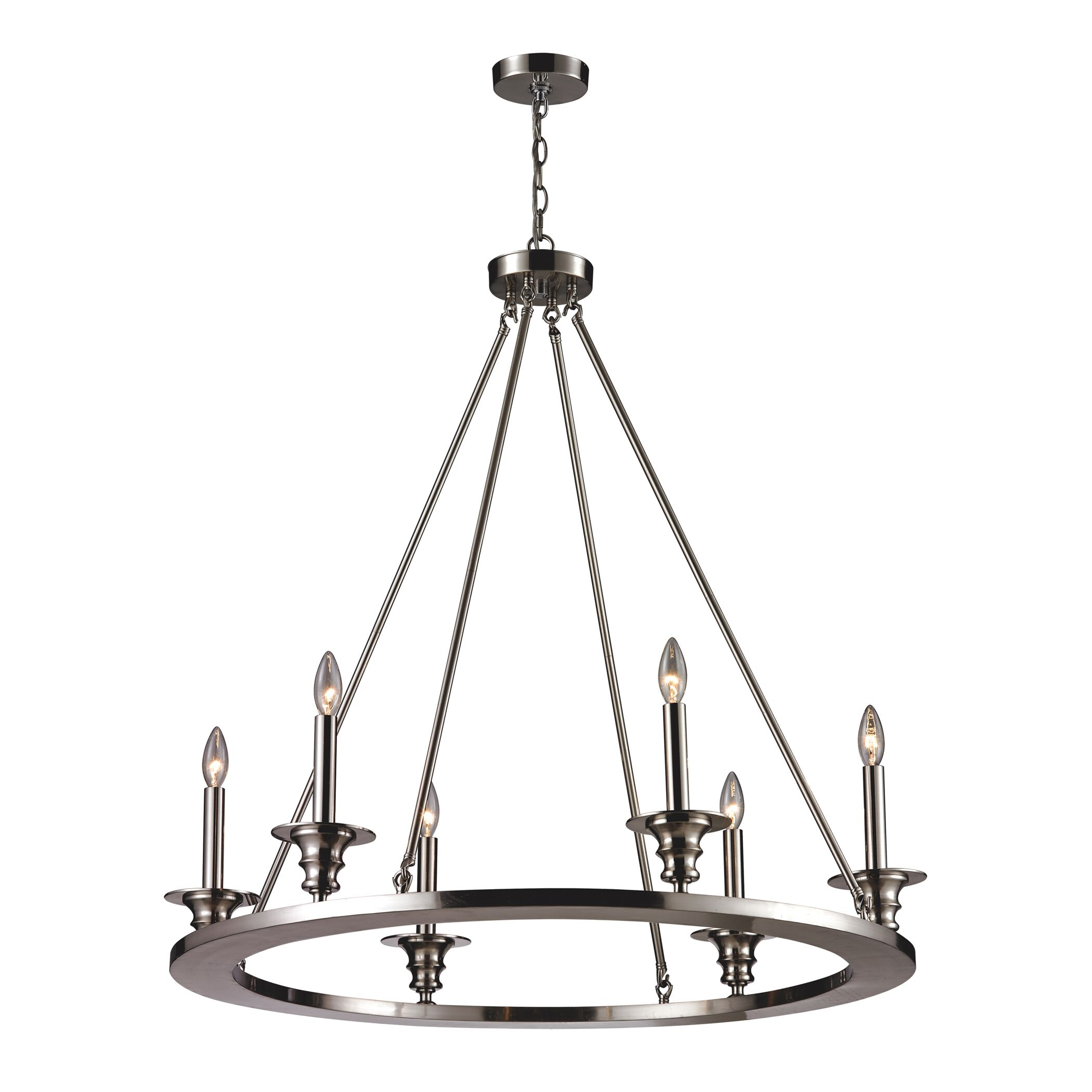 Teague 6-Light Candle-Style Chandelier