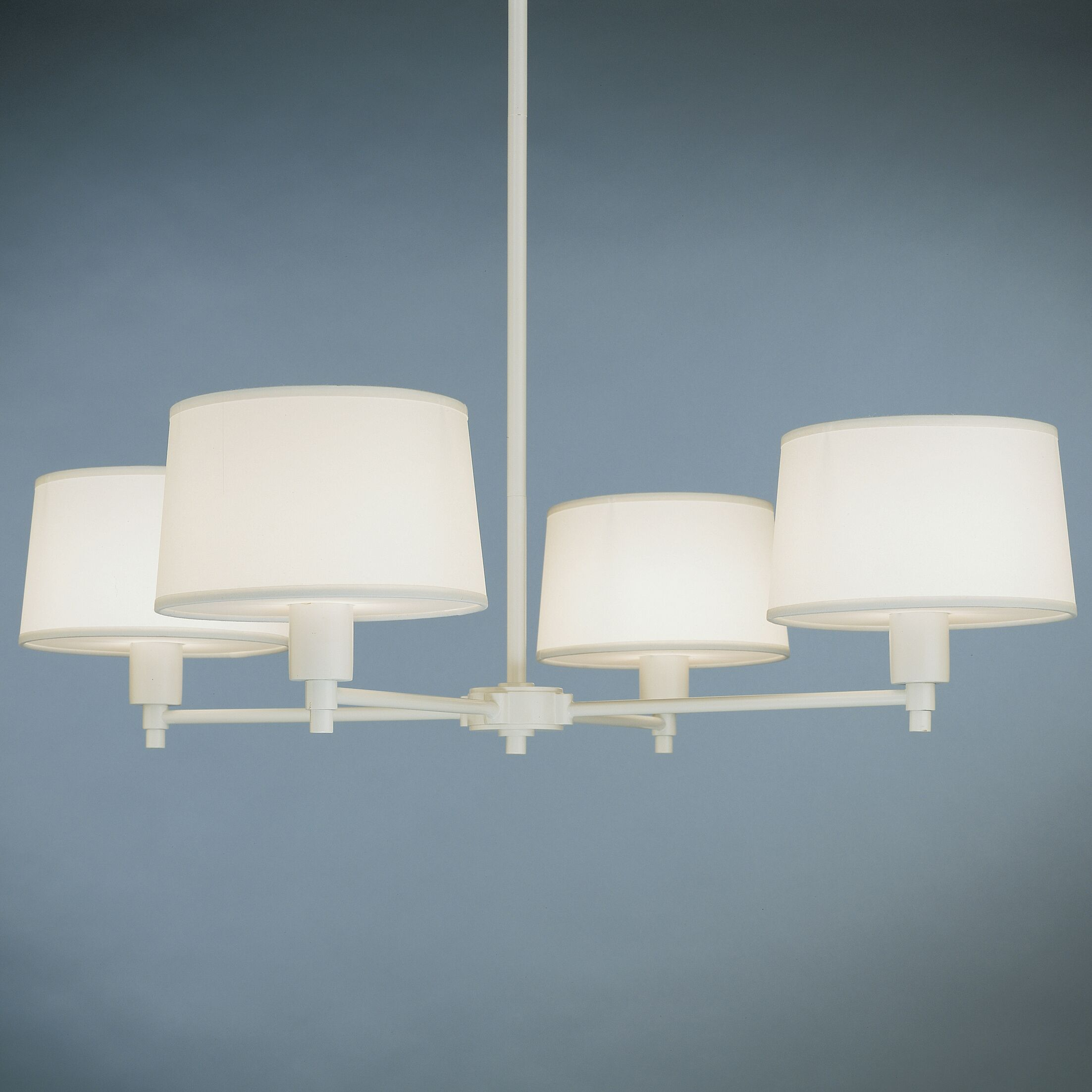 Real Simple 4-Light Shaded Chandelier Finish: Stardust White