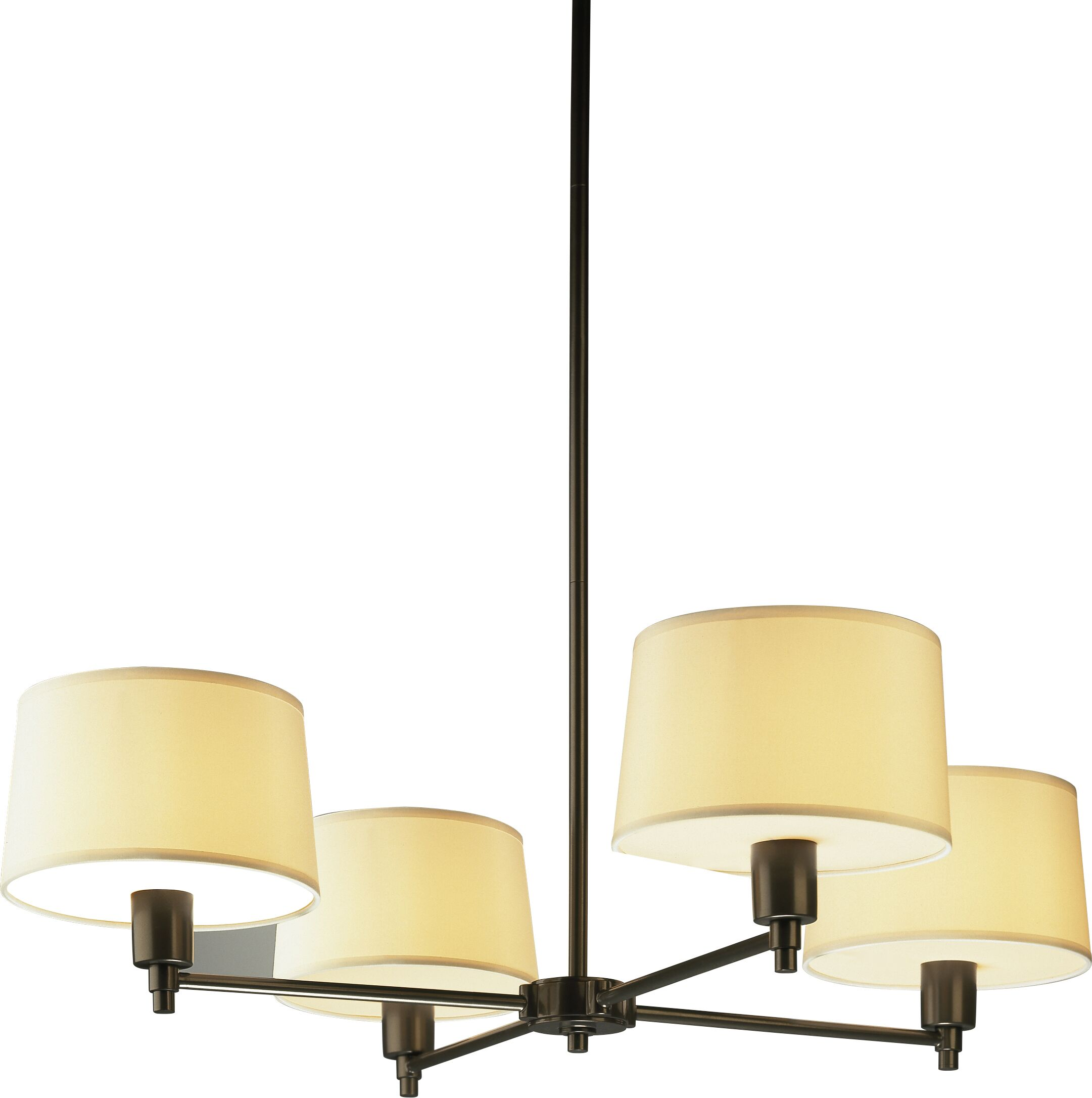 Real Simple 4-Light Shaded Chandelier