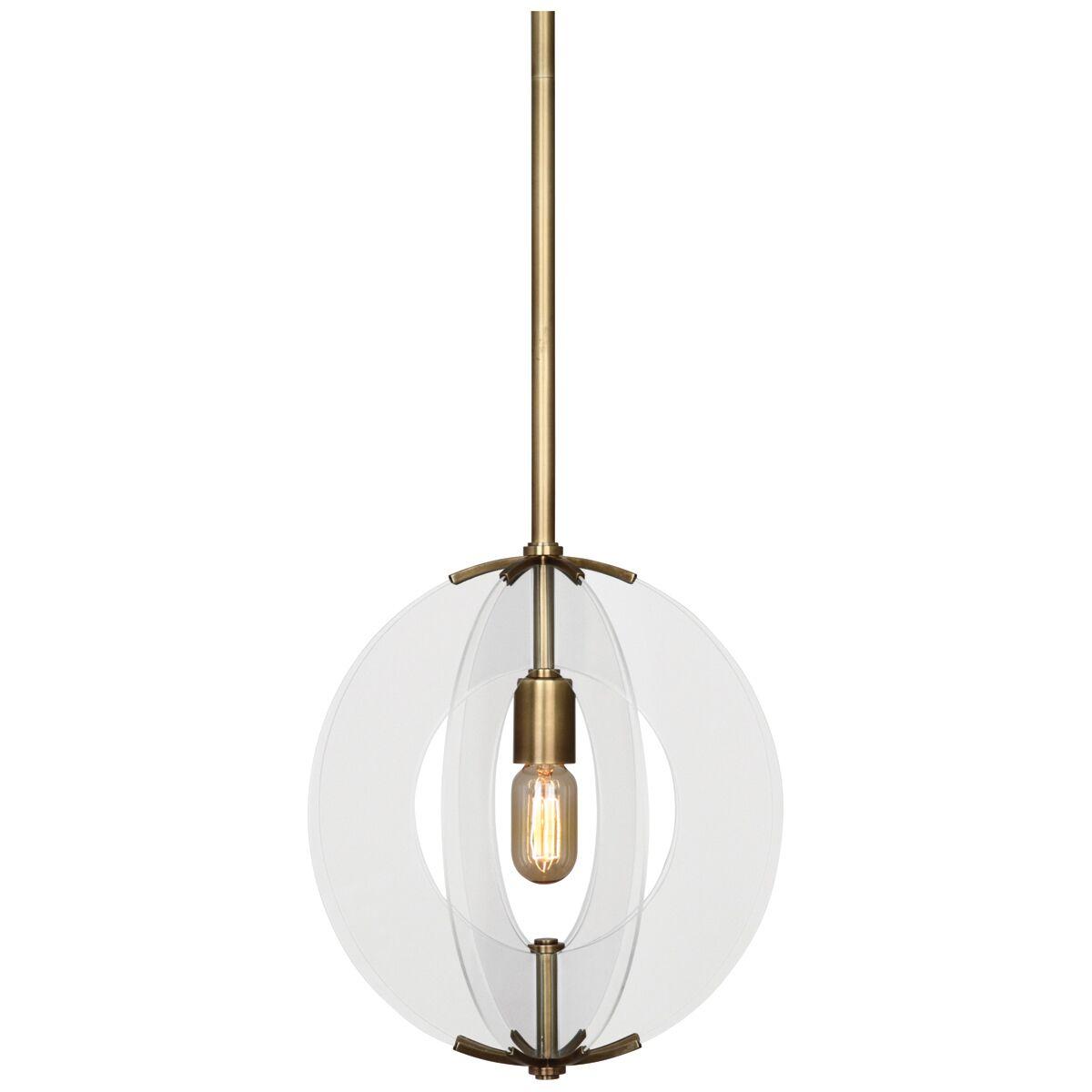 Latitude 1-Light Globe Pendant Finish: Antique Brass