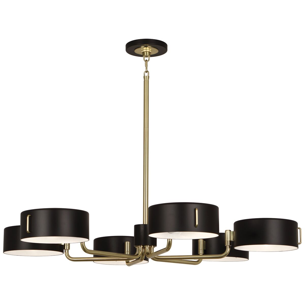 Simon 6-Light Shaded Chandelier Finish: Modern Brass