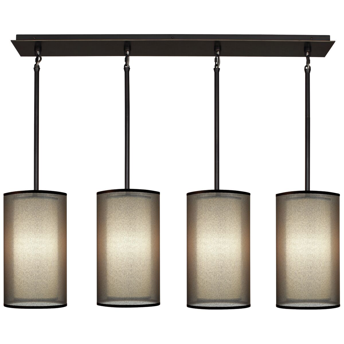 Saturnia 4-Light Kitchen Island Pendant Finish: Deep Patina Bronze