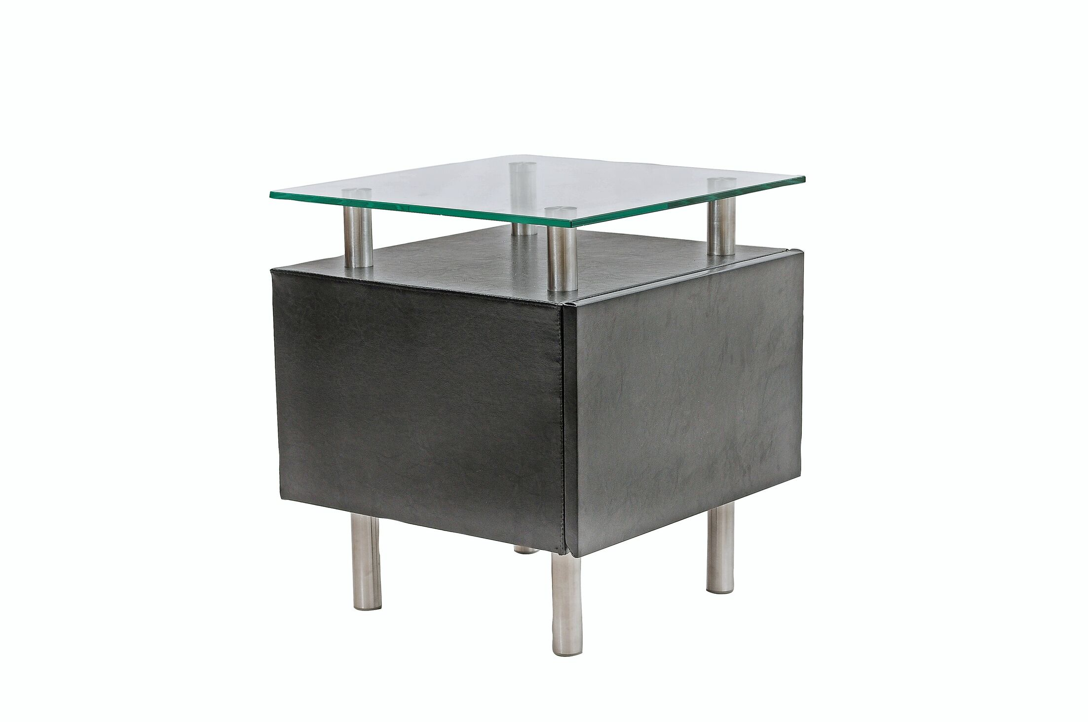 PU End Table Color: Black