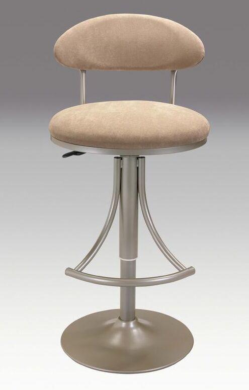 Adjustable Height Swivel Bar Stool Upholstery: Champagne