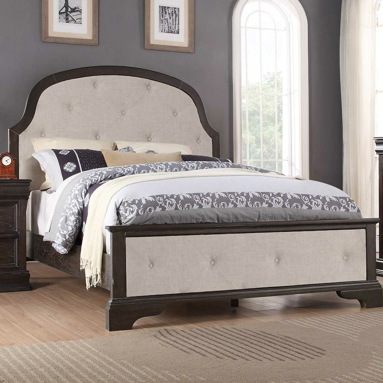 Fortunat Upholstered Panel Bed Size: California King