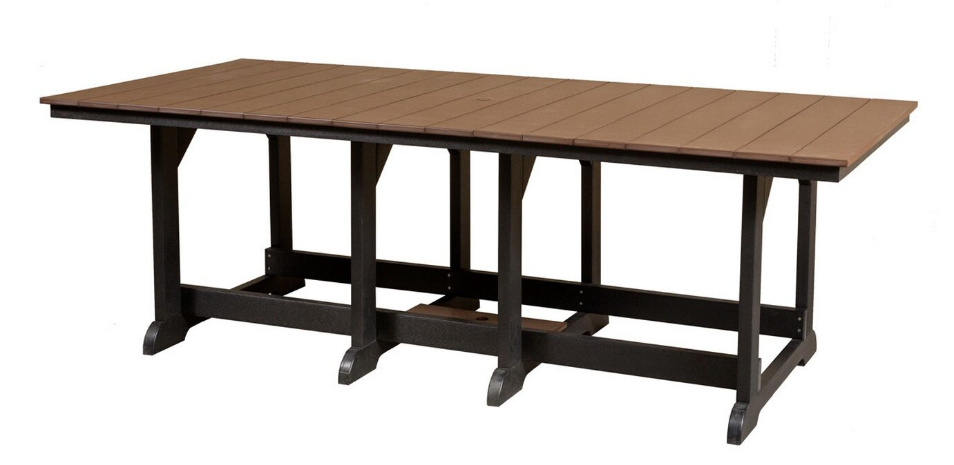 Patricia Contemporary Dining Table Color: Weathered Wood/Black