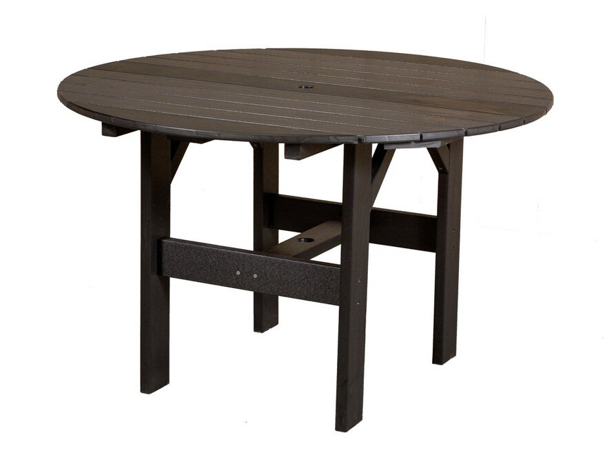 Sawyerville Contemporary Chat Table Color: Tudor Brown