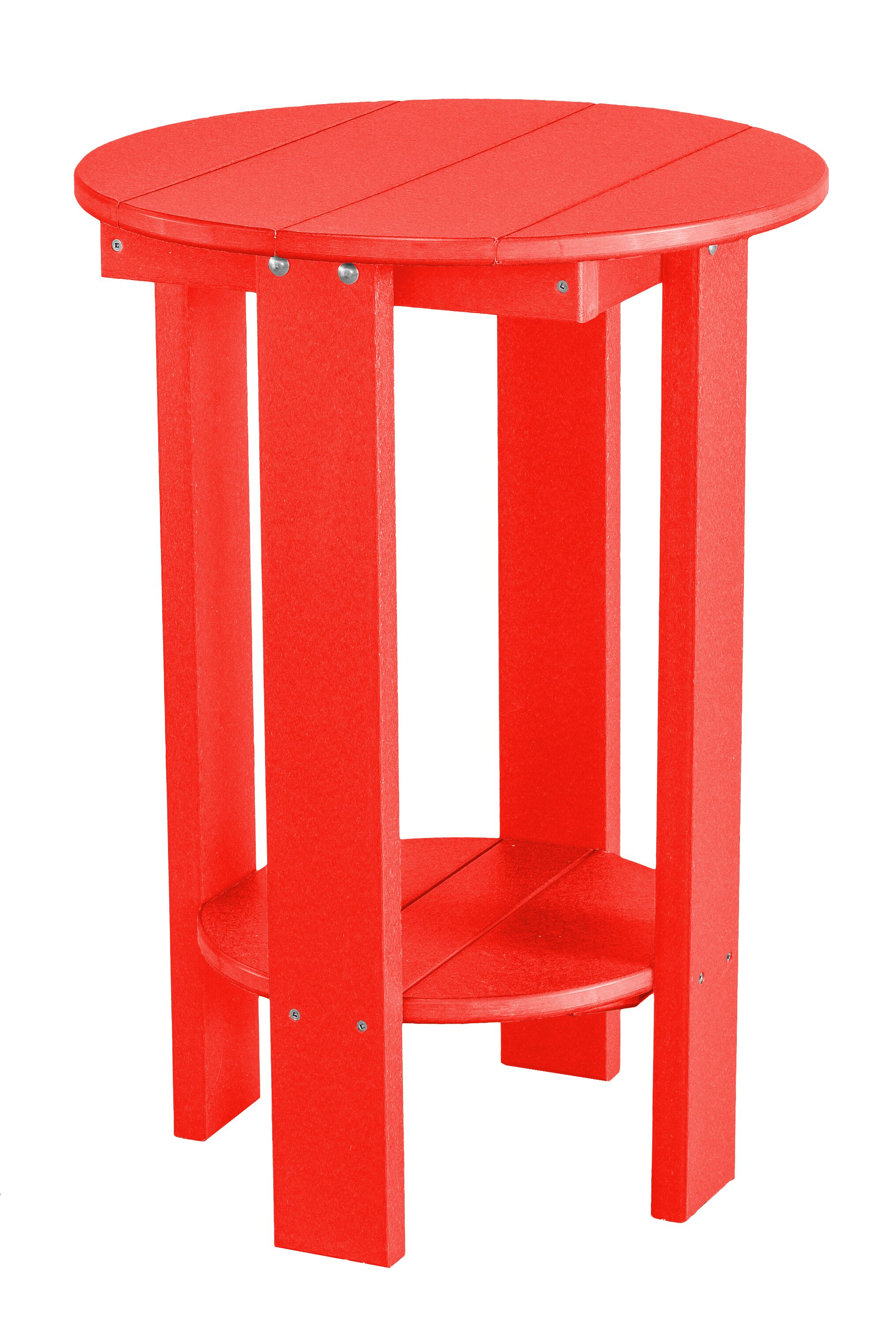 Patricia Balcony Table Finish: Red/Black