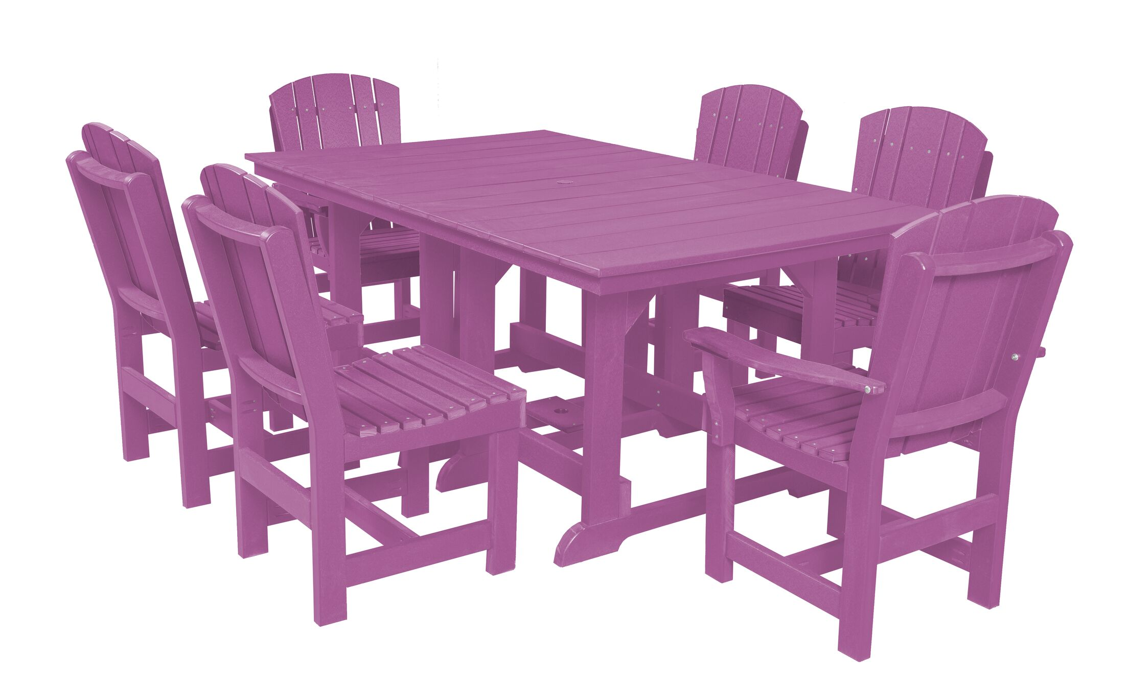 Patricia 7 Piece Dining Set Finish: Purple
