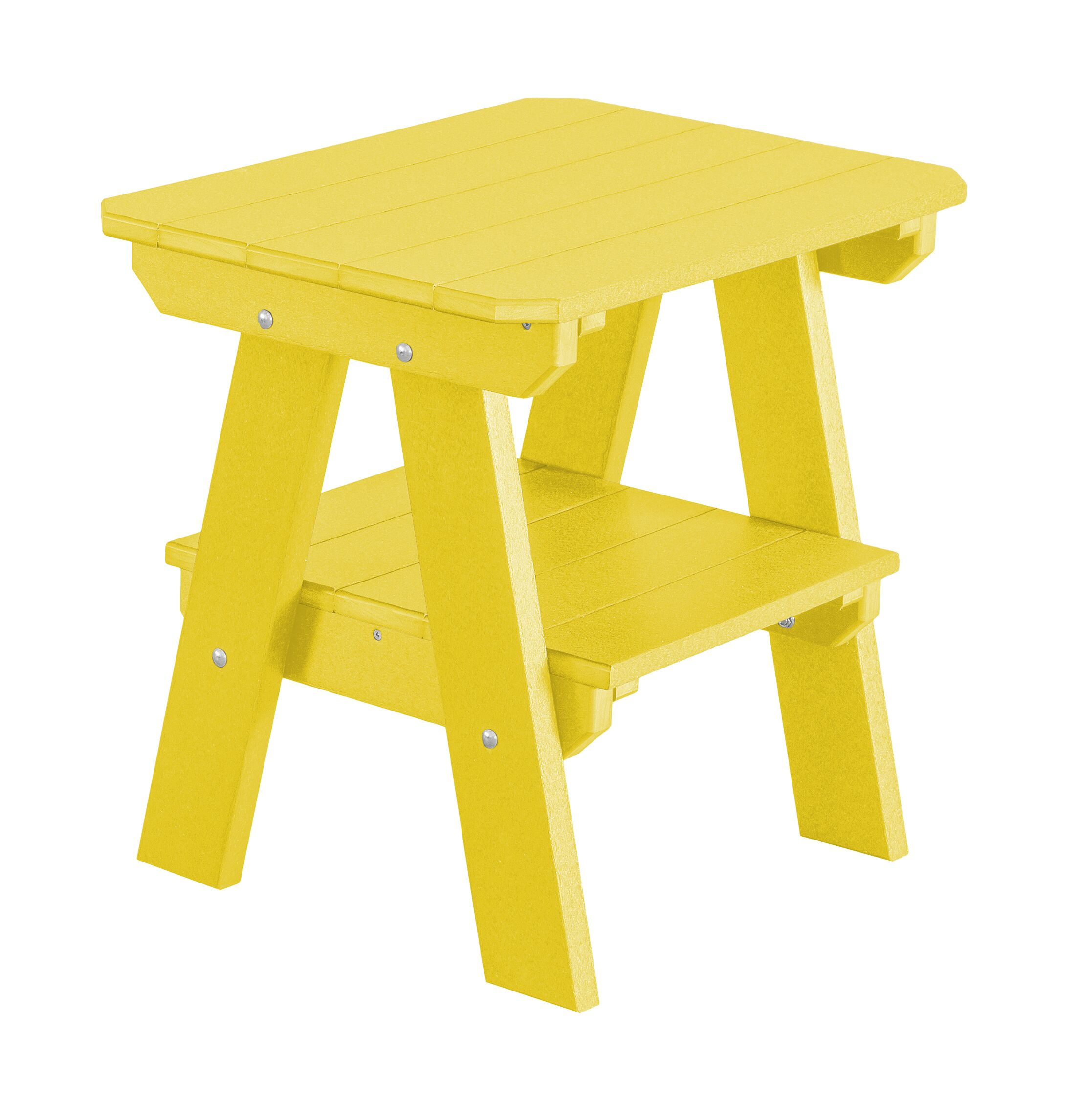 Patricia 2 Tier End Table Color: Lemon Yellow