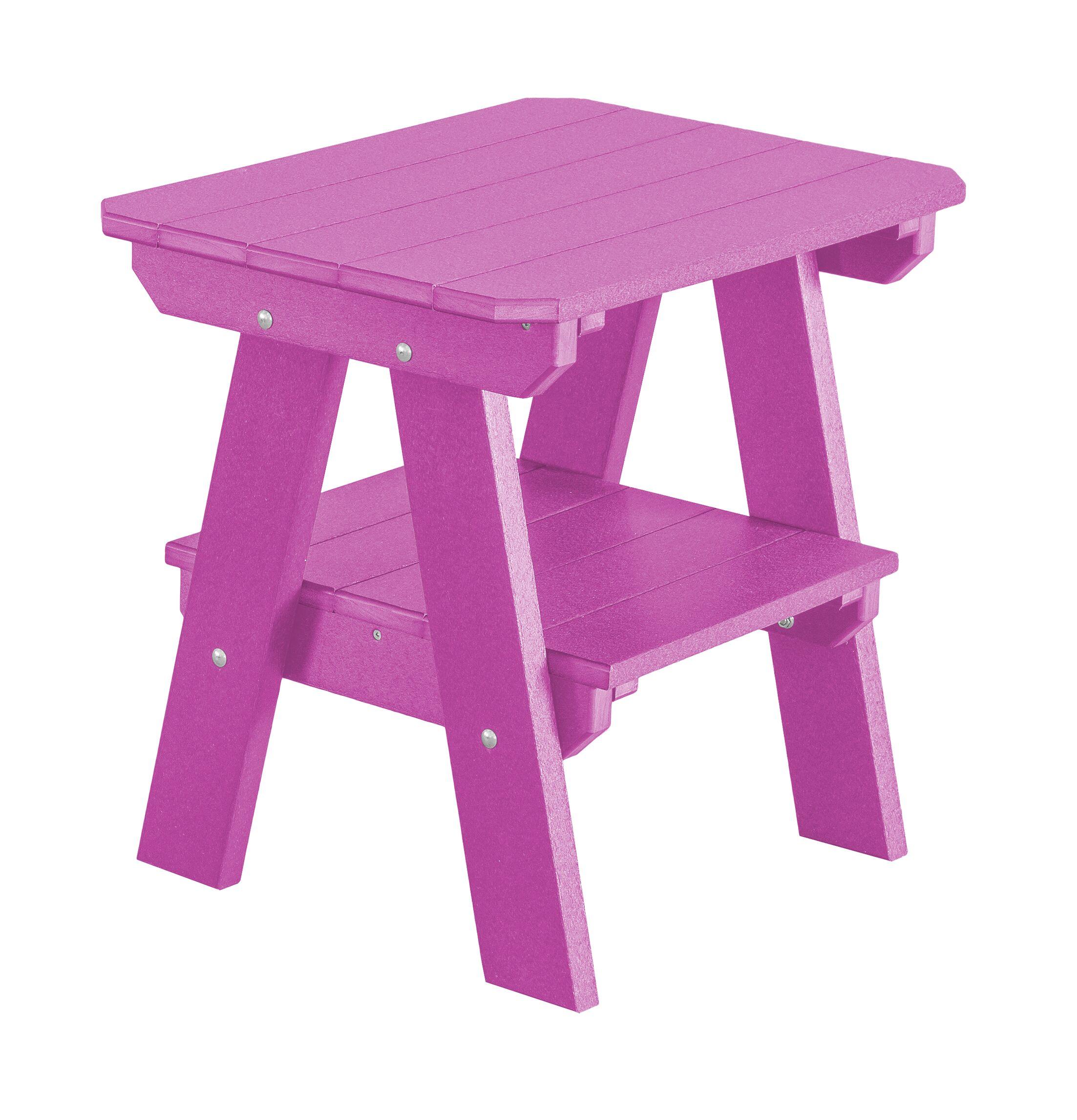 Patricia 2 Tier End Table Color: Purple