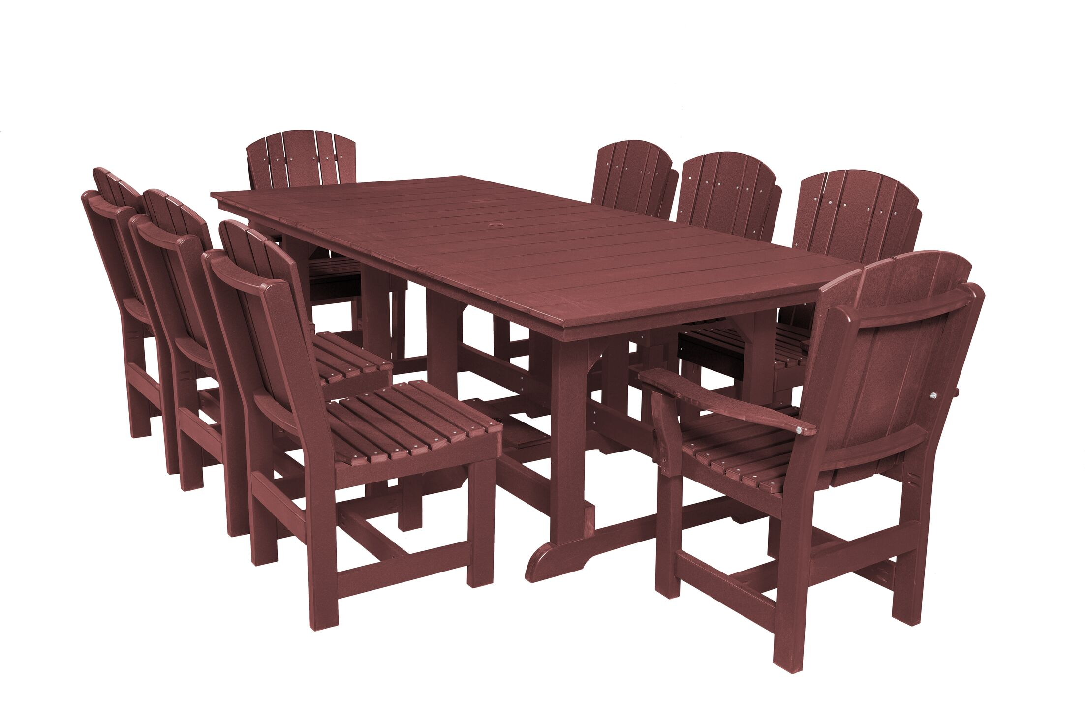 Patricia 9 Piece Dining Set Color: Cherry Wood