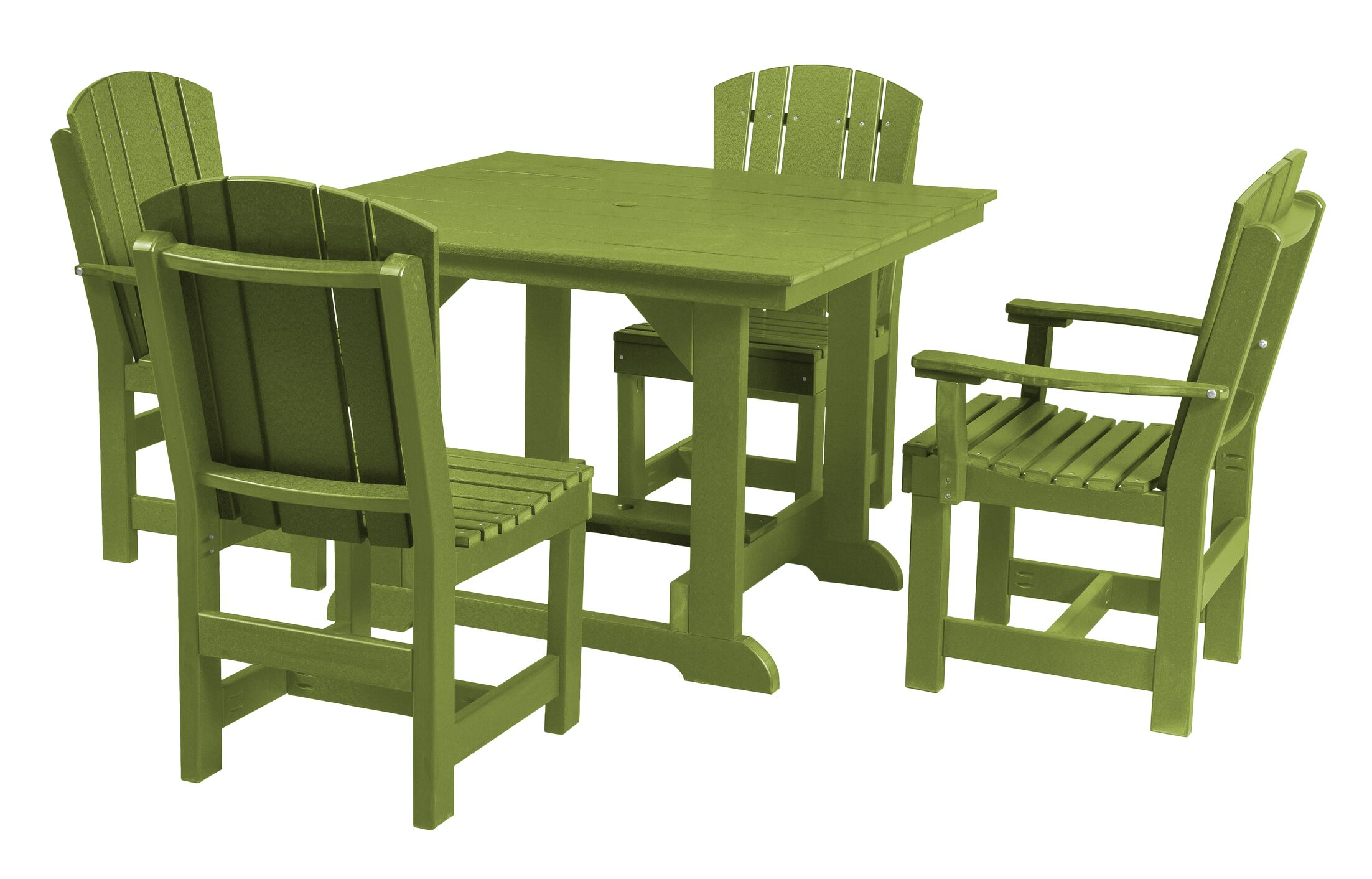 Patricia 5 Piece Dining Set Finish: Lime Green