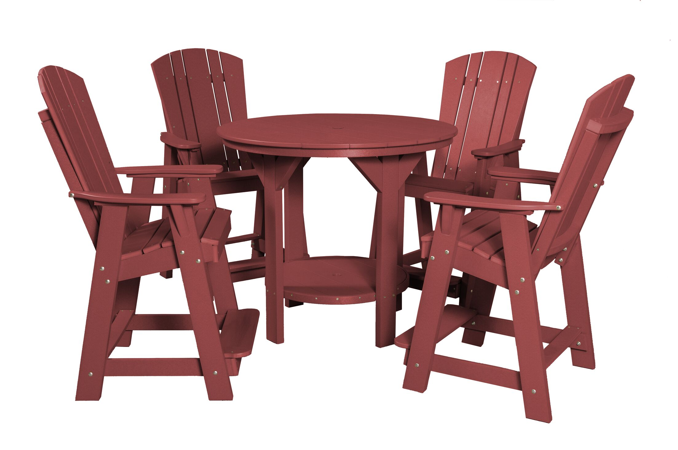 Patricia Traditional 5 Piece Dining Set Finish: Cherry Wood