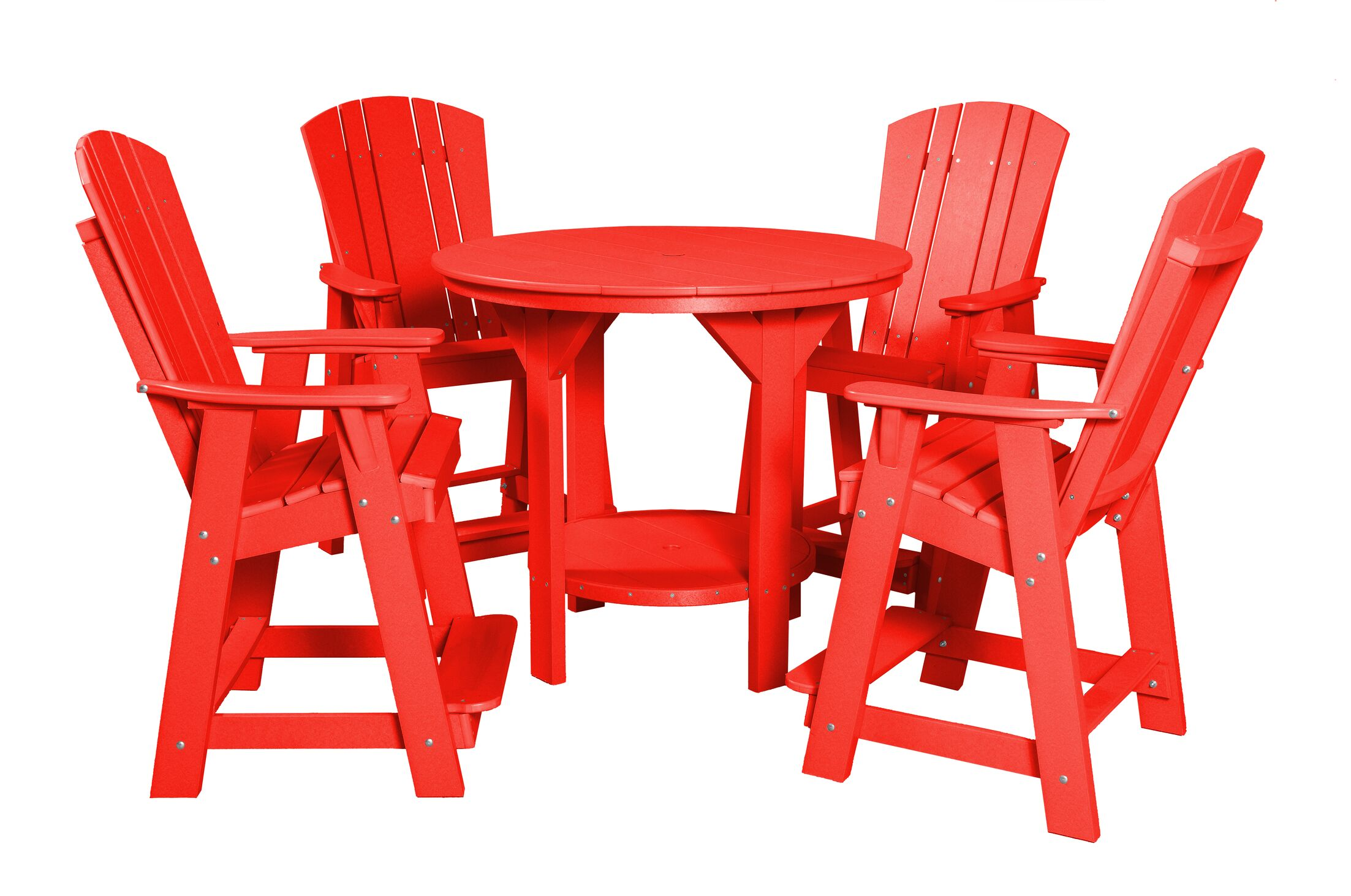 Patricia Traditional 5 Piece Dining Set Finish: Bright Red