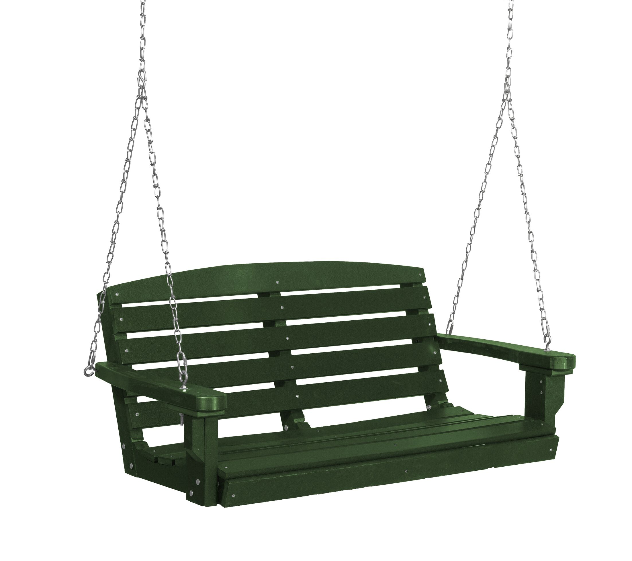 Sawyerville Porch Swing Finish: Turf Green