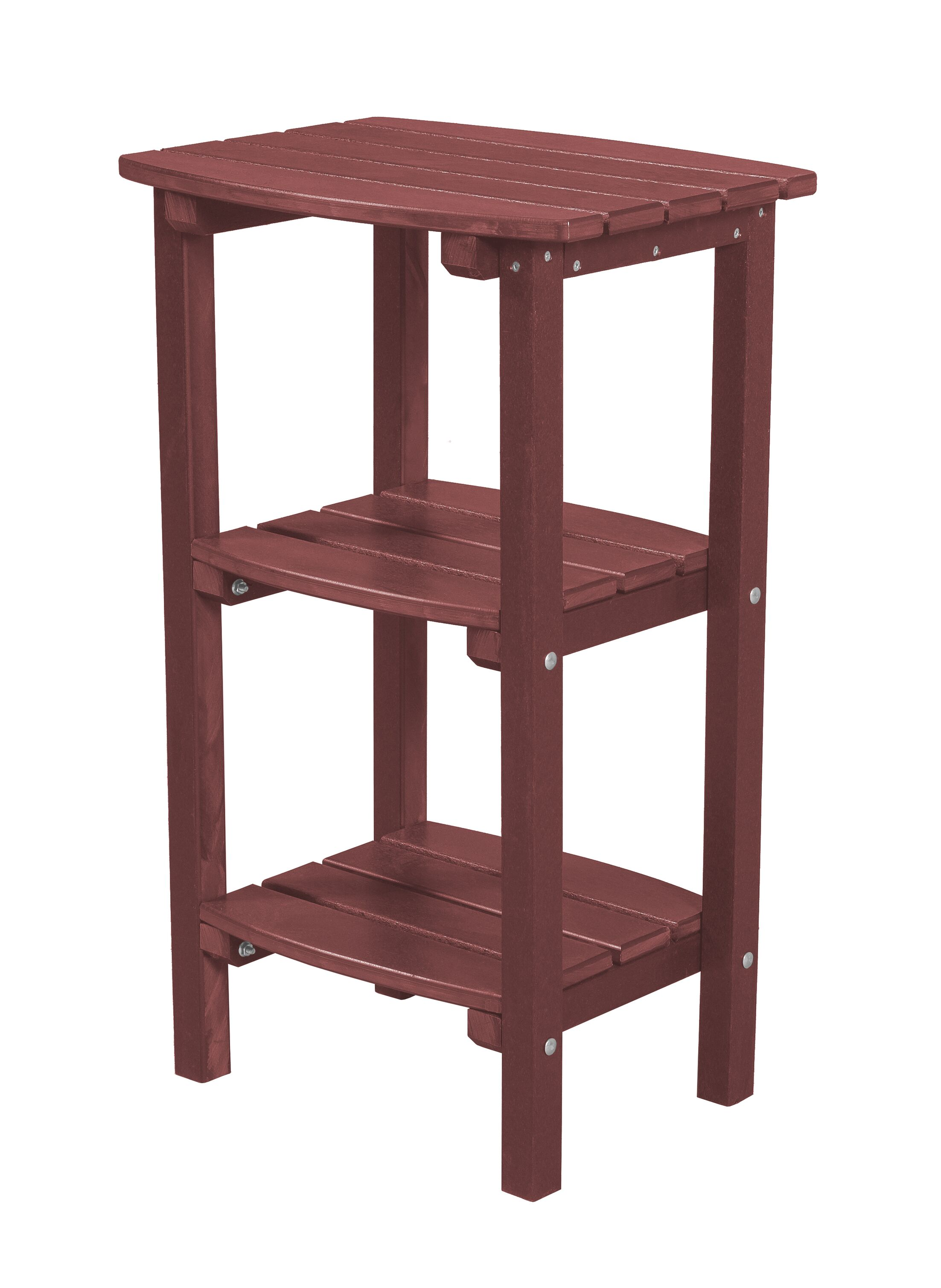 Sawyerville Contemporary Side Table Color: Cherry Wood