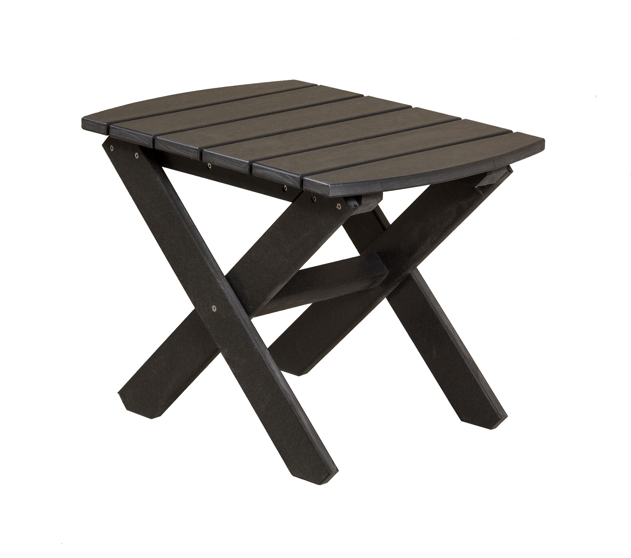 Sawyerville Rectangle Side Table Color: Black