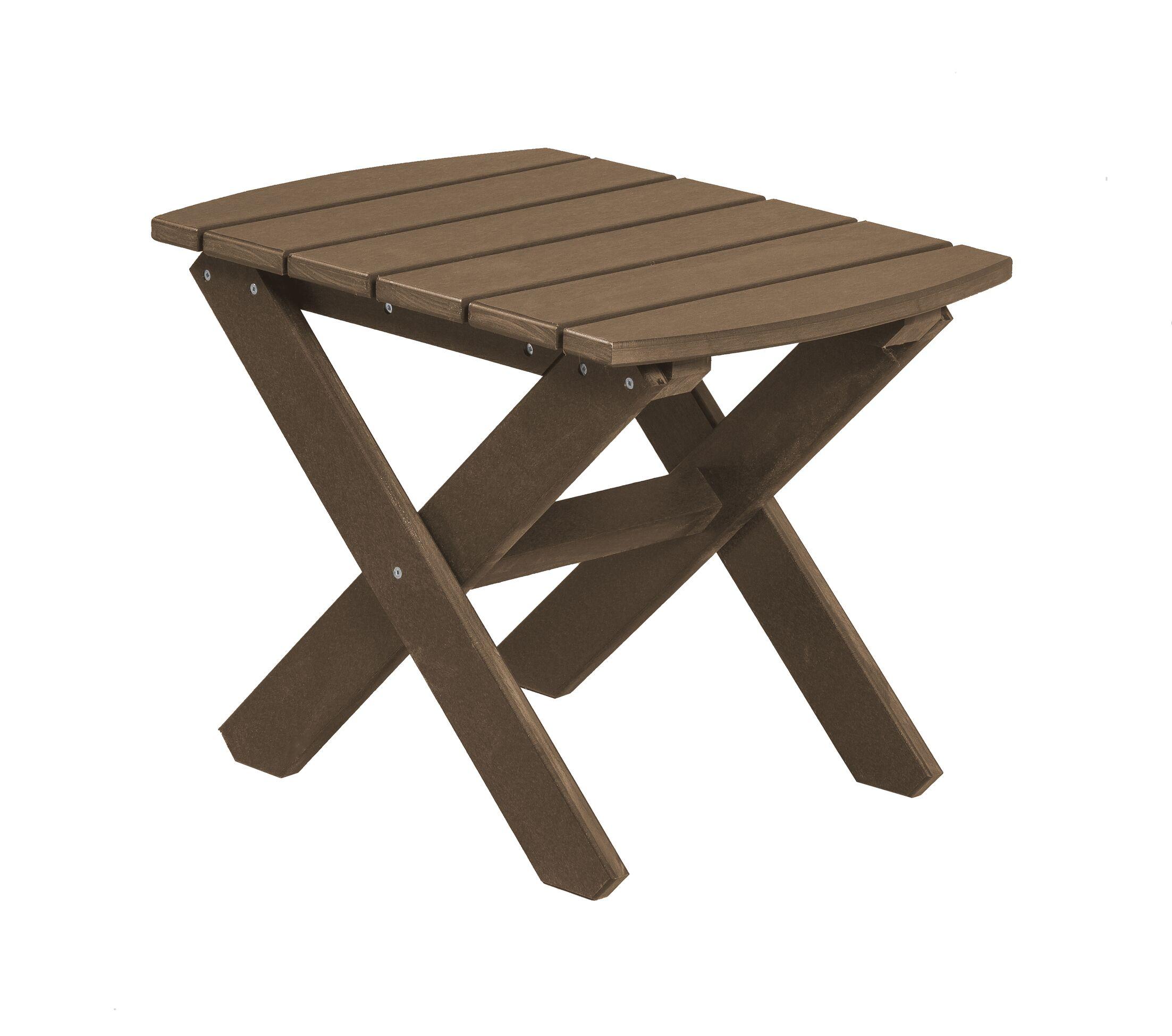 Sawyerville Rectangle Side Table Color: Tudor Brown