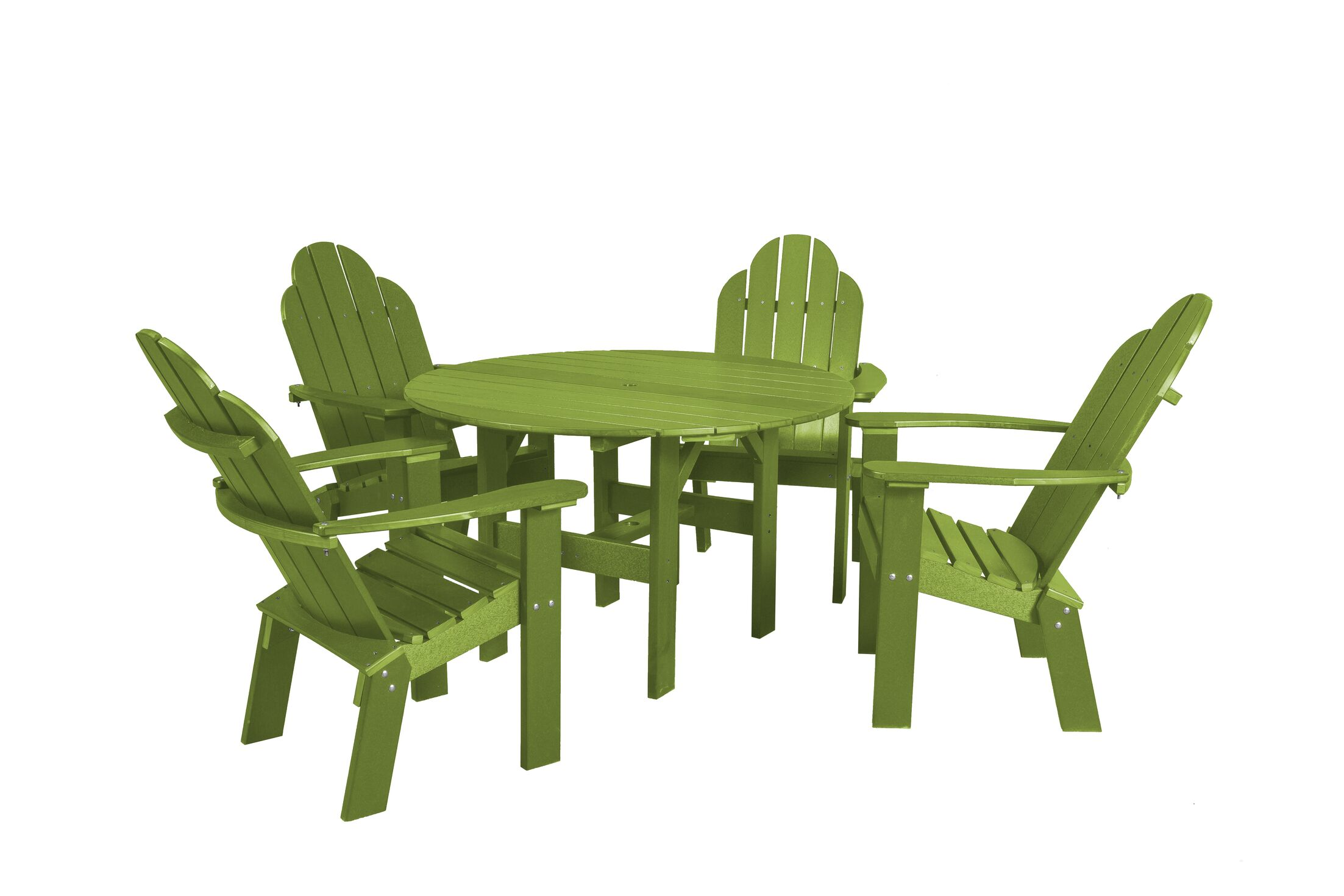 Classic 5 Piece Dining Set Color: Lime