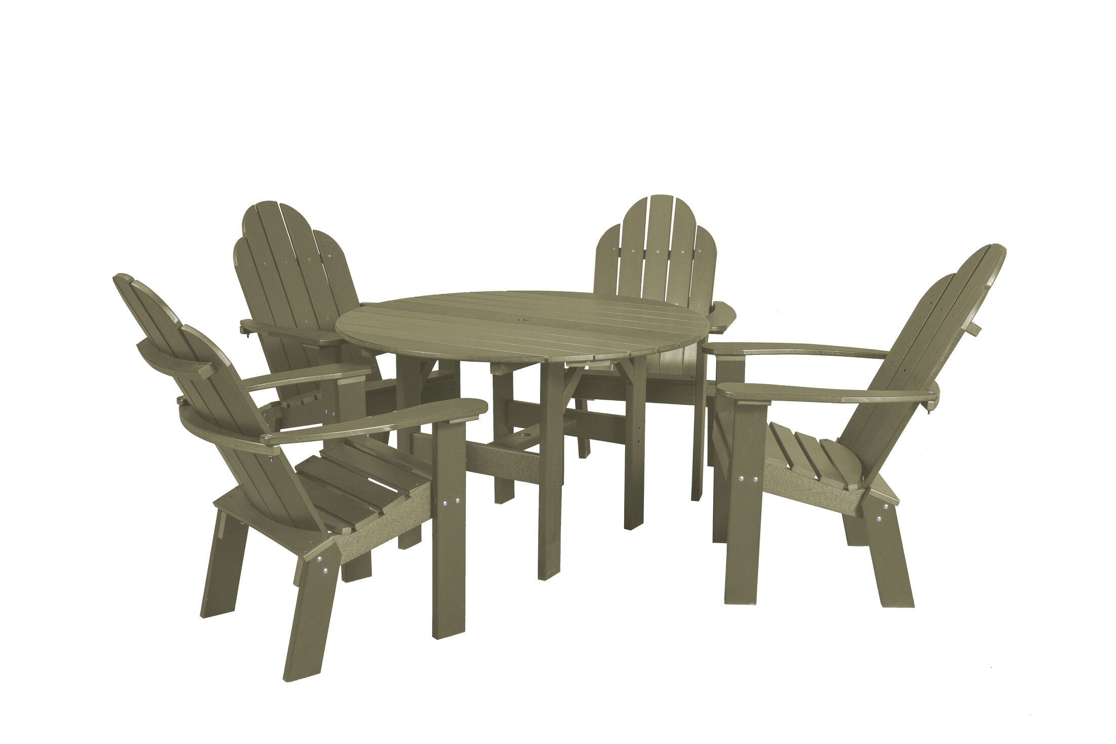 Classic 5 Piece Dining Set Color: Olive