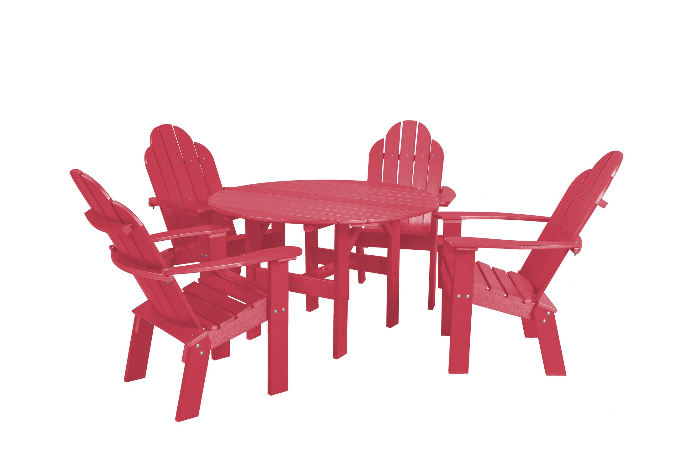 Classic 5 Piece Dining Set Color: Pink