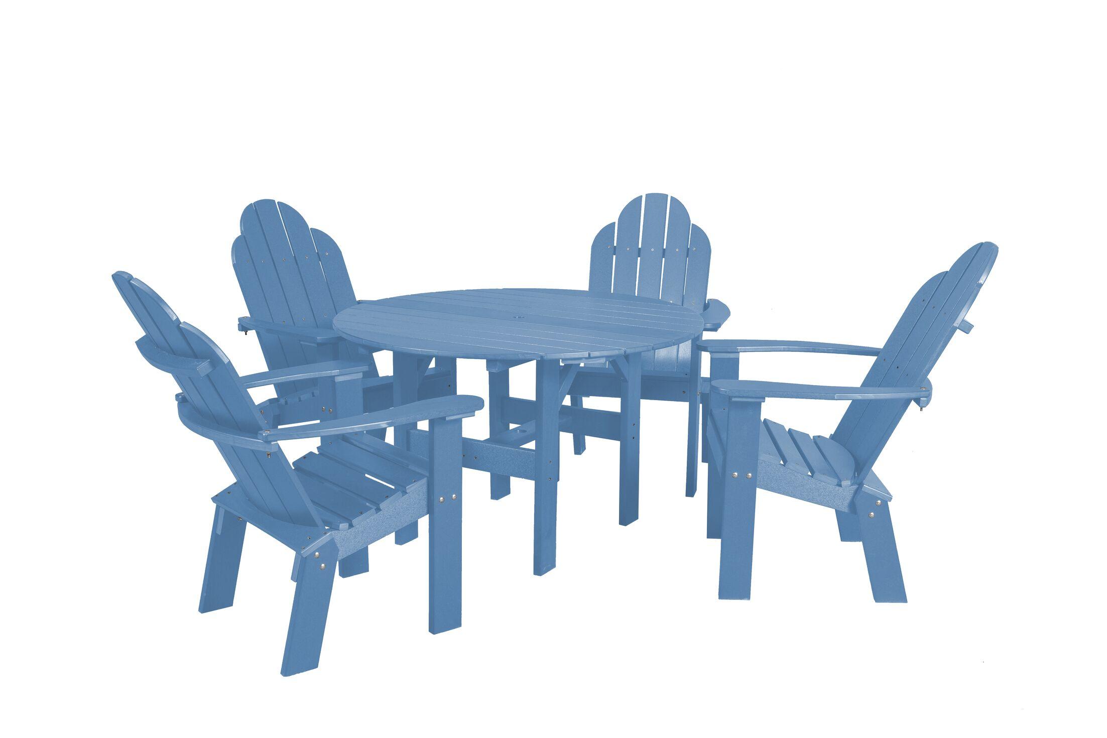 Classic 5 Piece Dining Set Color: Powder Blue