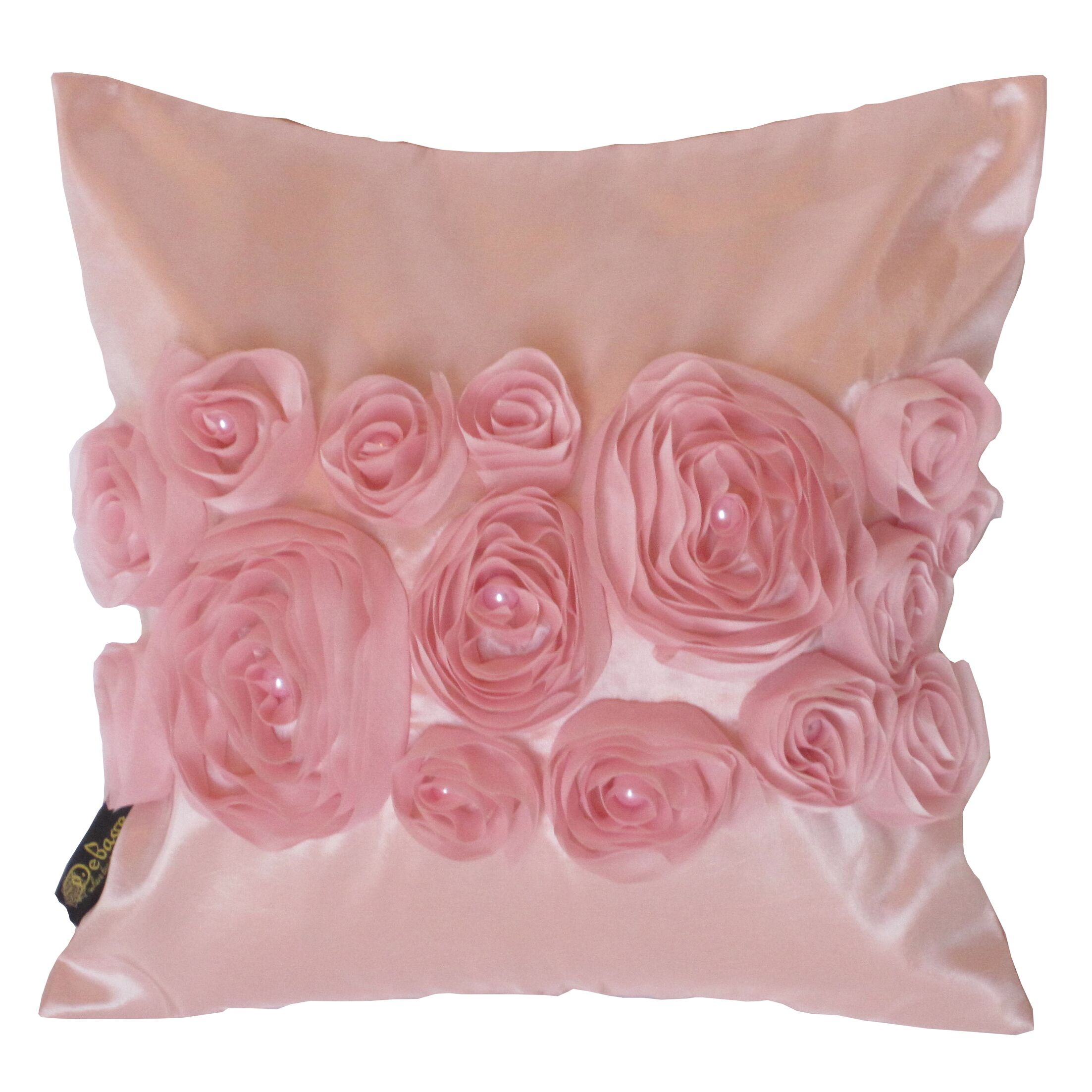 Spring Flower Throw Pillow Color: Pink