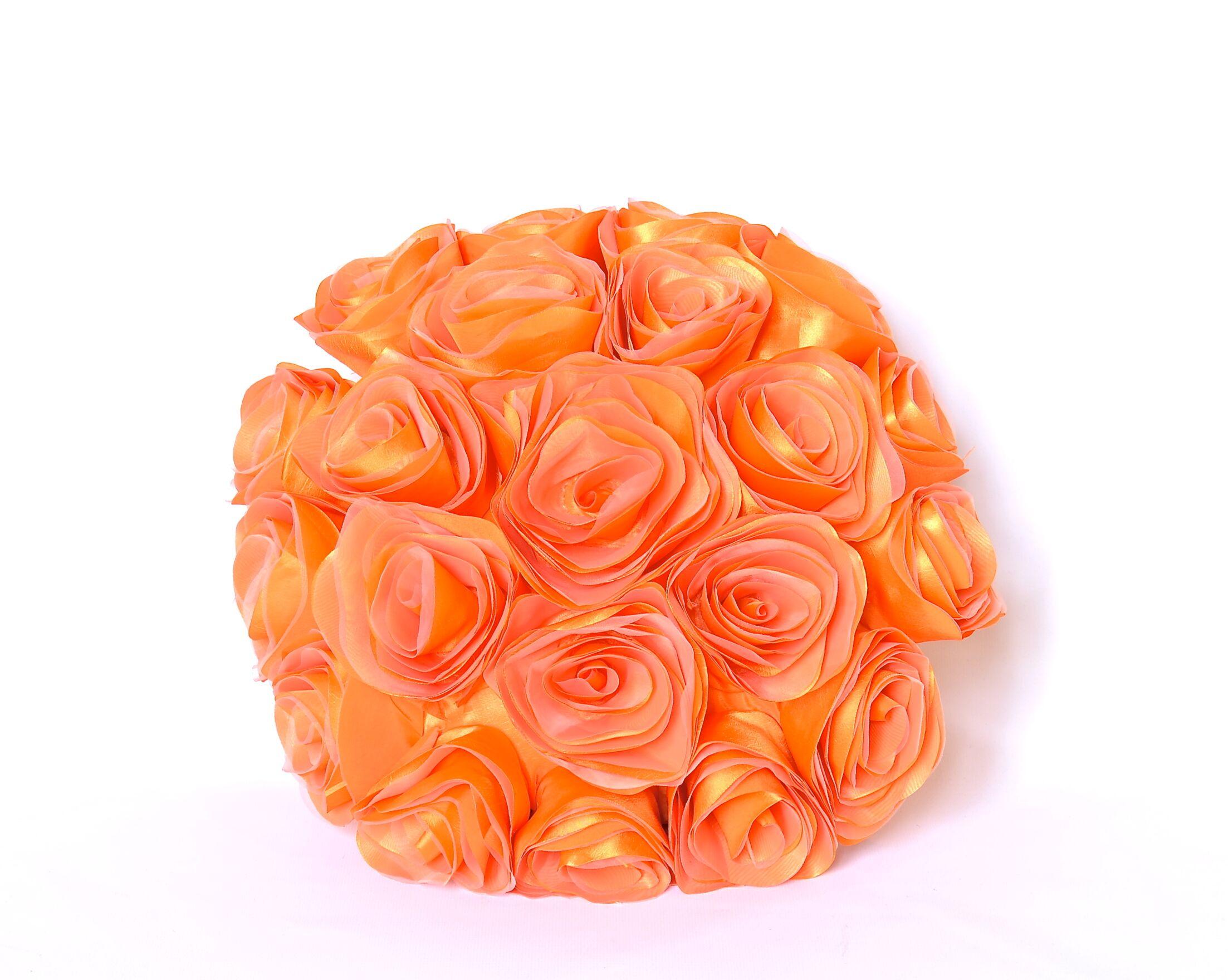 Spring Flower Throw Pillow Color: Orange
